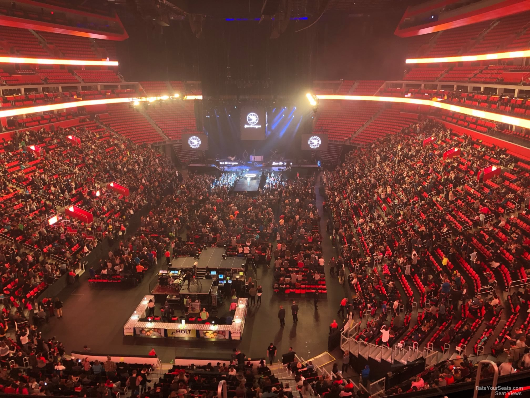 Concert Seat View for Little Caesars Arena Mezzanine 19, Row 2