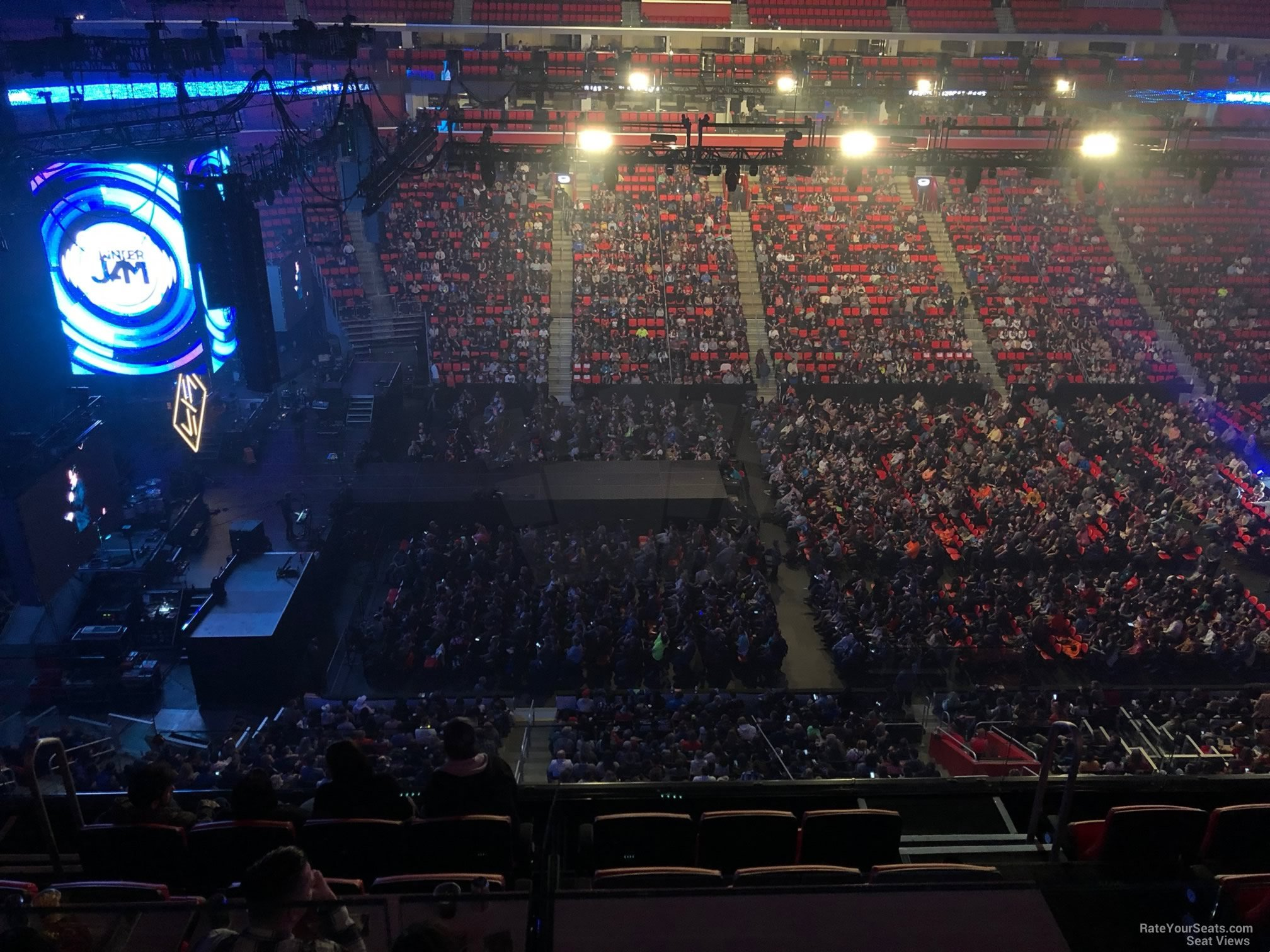 Concert Seat View for Little Caesars Arena Mezzanine 30, Row 2