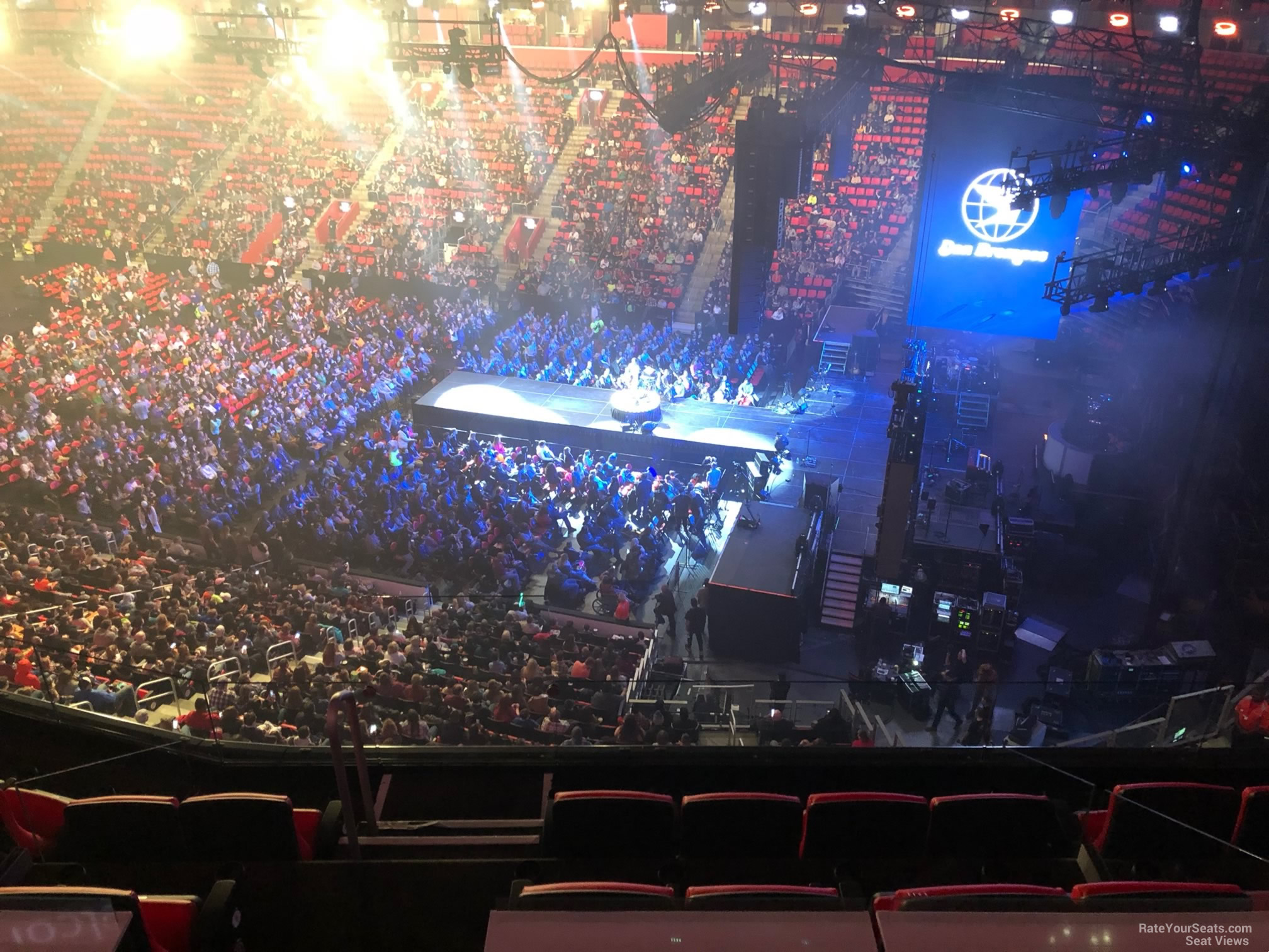 Concert Seat View for Little Caesars Arena Mezzanine 7, Row 2