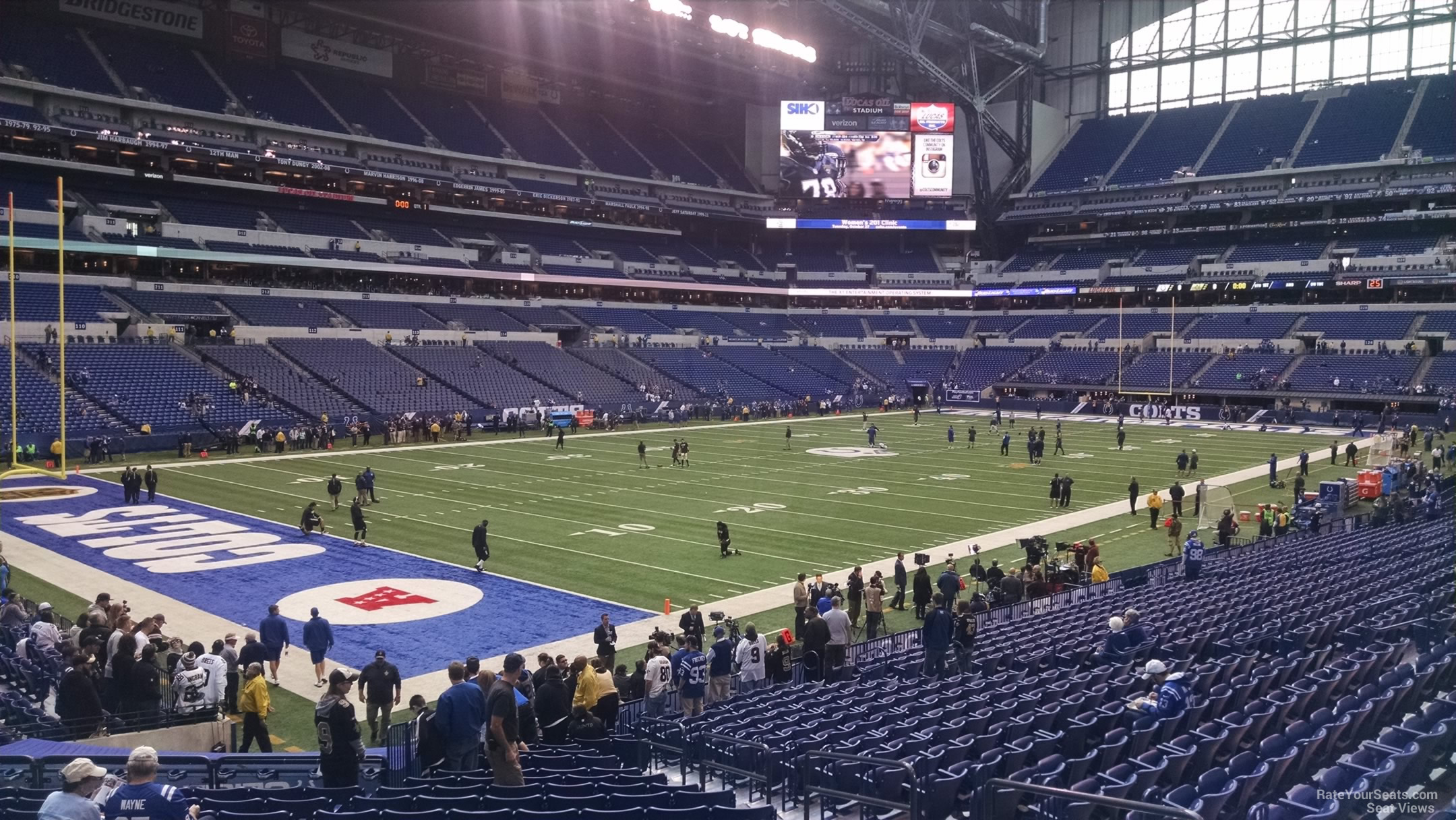 Indianapolis Colts Seat View for Lucas Oil Stadium Section 148, Row 22