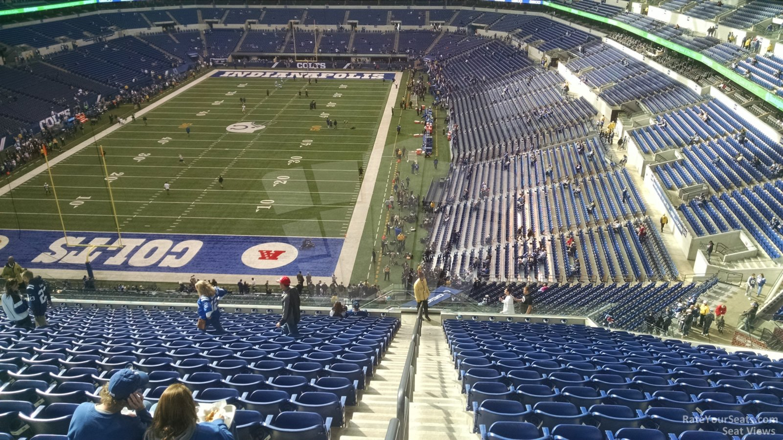 Indianapolis Colts Seat View for Lucas Oil Stadium Section 450, Row SRO
