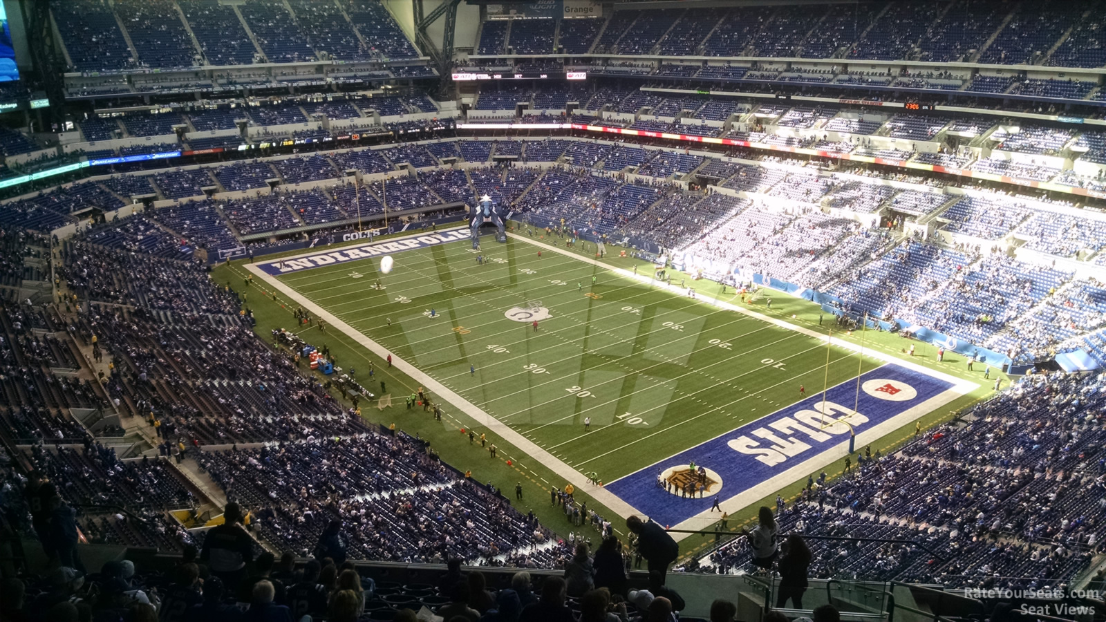 Indianapolis Colts Seat View for Lucas Oil Stadium Section 605, Row 15