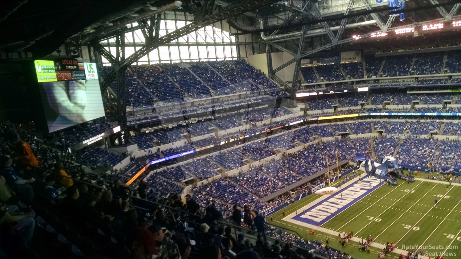 Lucas oil stadium section 613 indianapolis colts for Terrace end zone lucas oil stadium