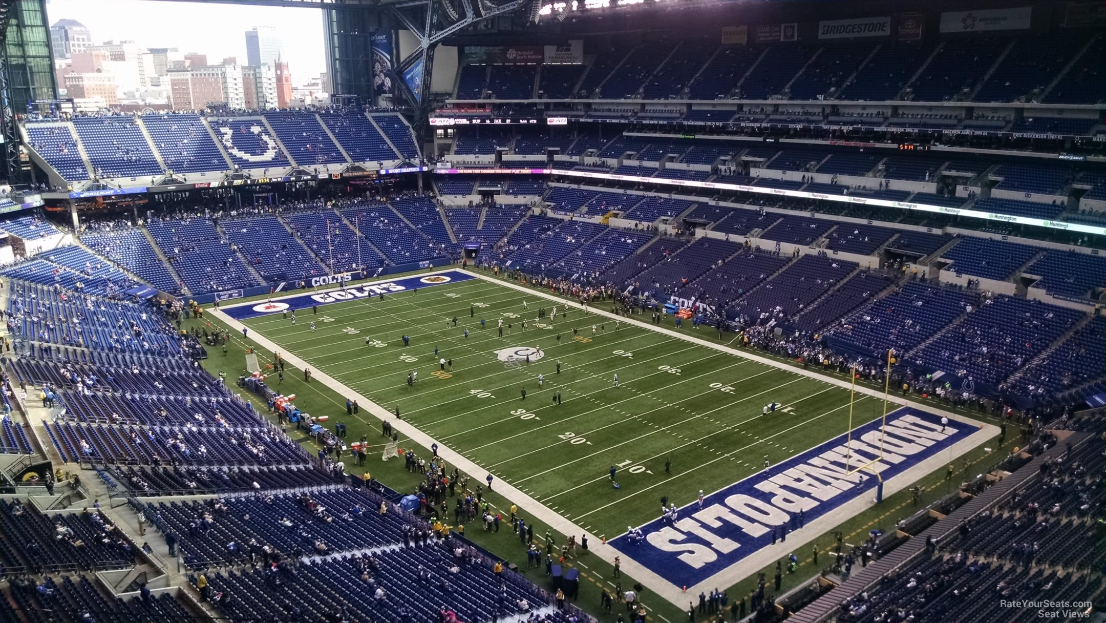 Indianapolis Colts Seat View for Lucas Oil Stadium Section 632, Row 7