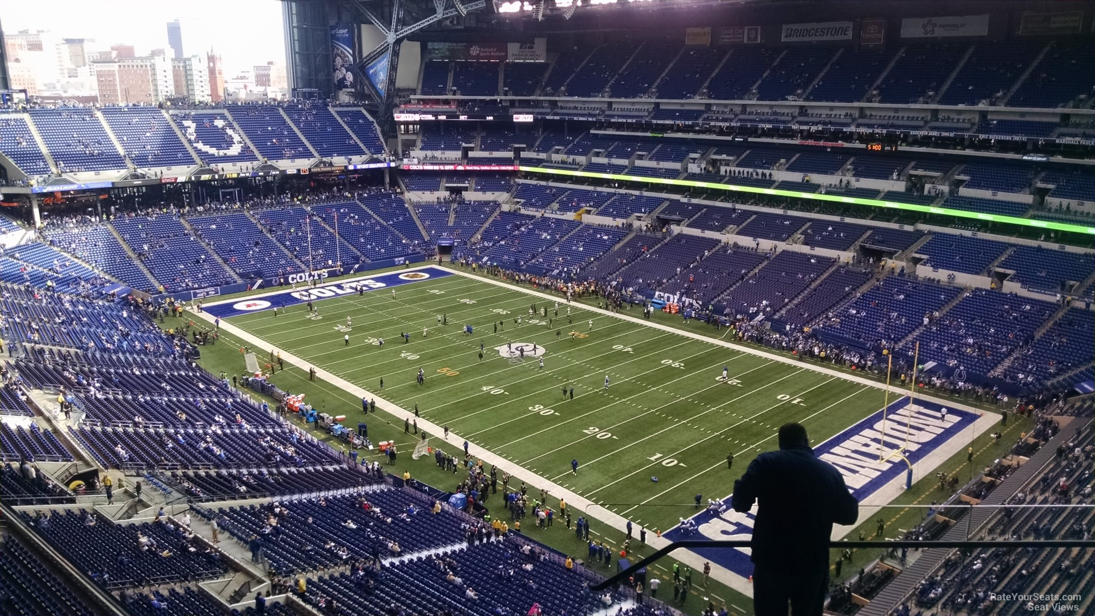 Lucas oil stadium section 633 indianapolis colts for Terrace end zone lucas oil stadium