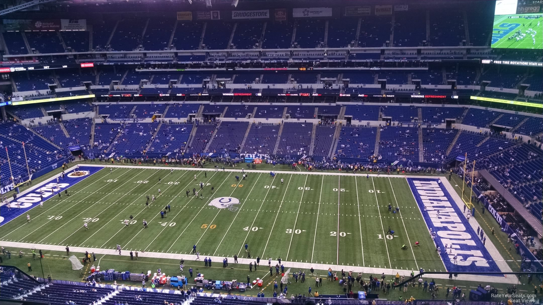 Lucas oil stadium section 638 indianapolis colts for Terrace end zone lucas oil stadium