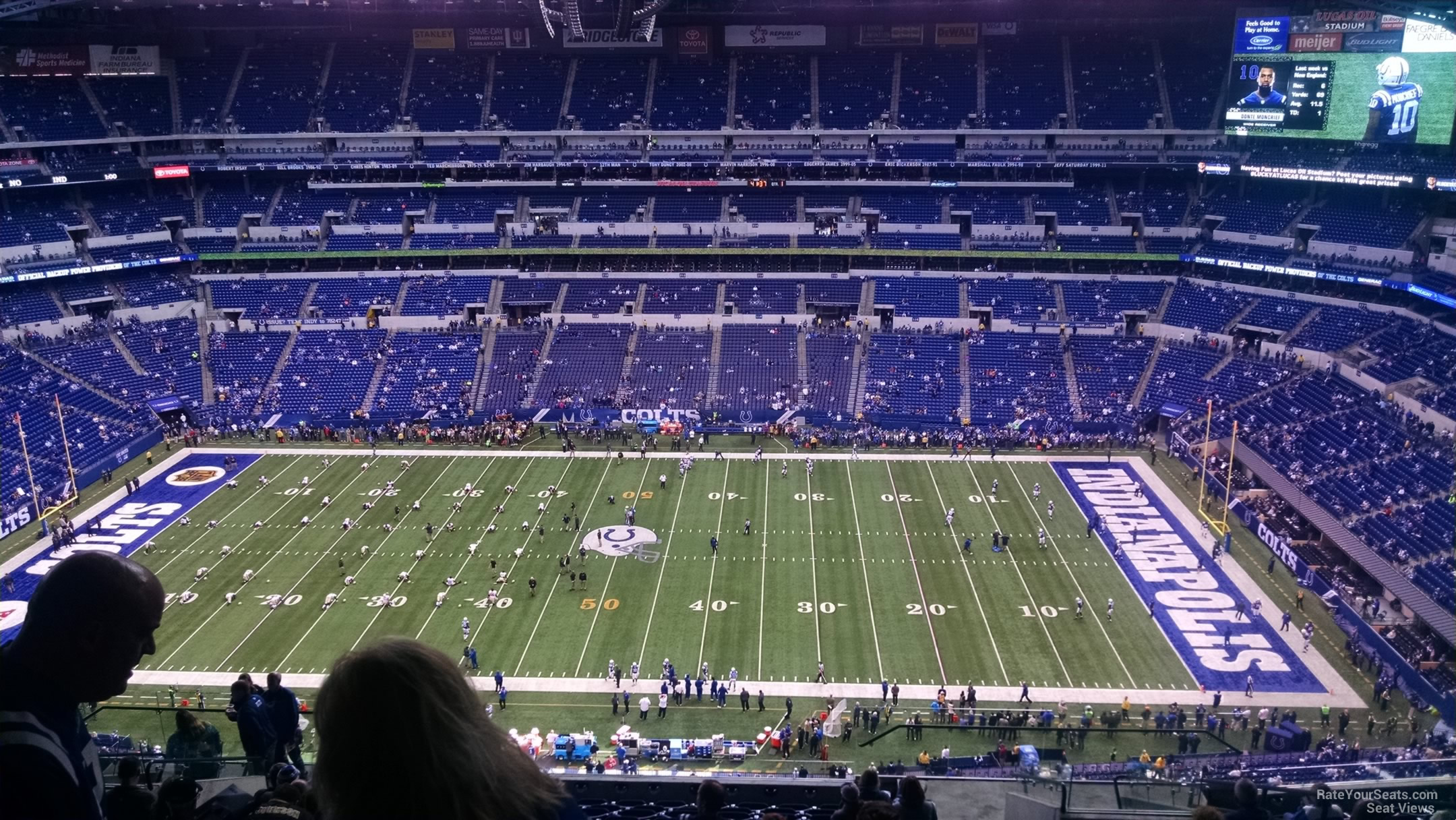 Indianapolis Colts Seat View for Lucas Oil Stadium Section 639, ...