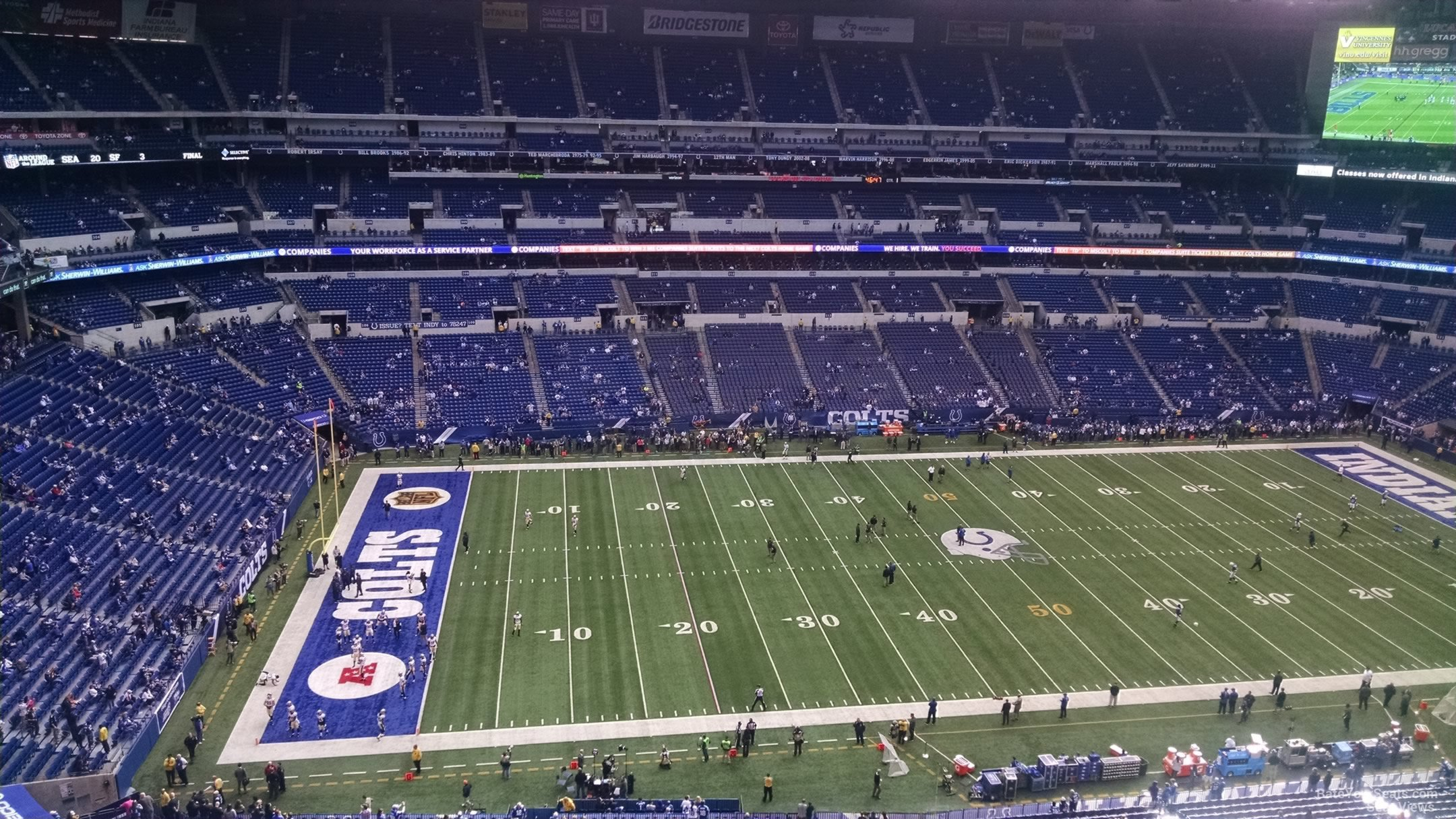 Lucas oil stadium section 643 indianapolis colts for Terrace end zone lucas oil stadium