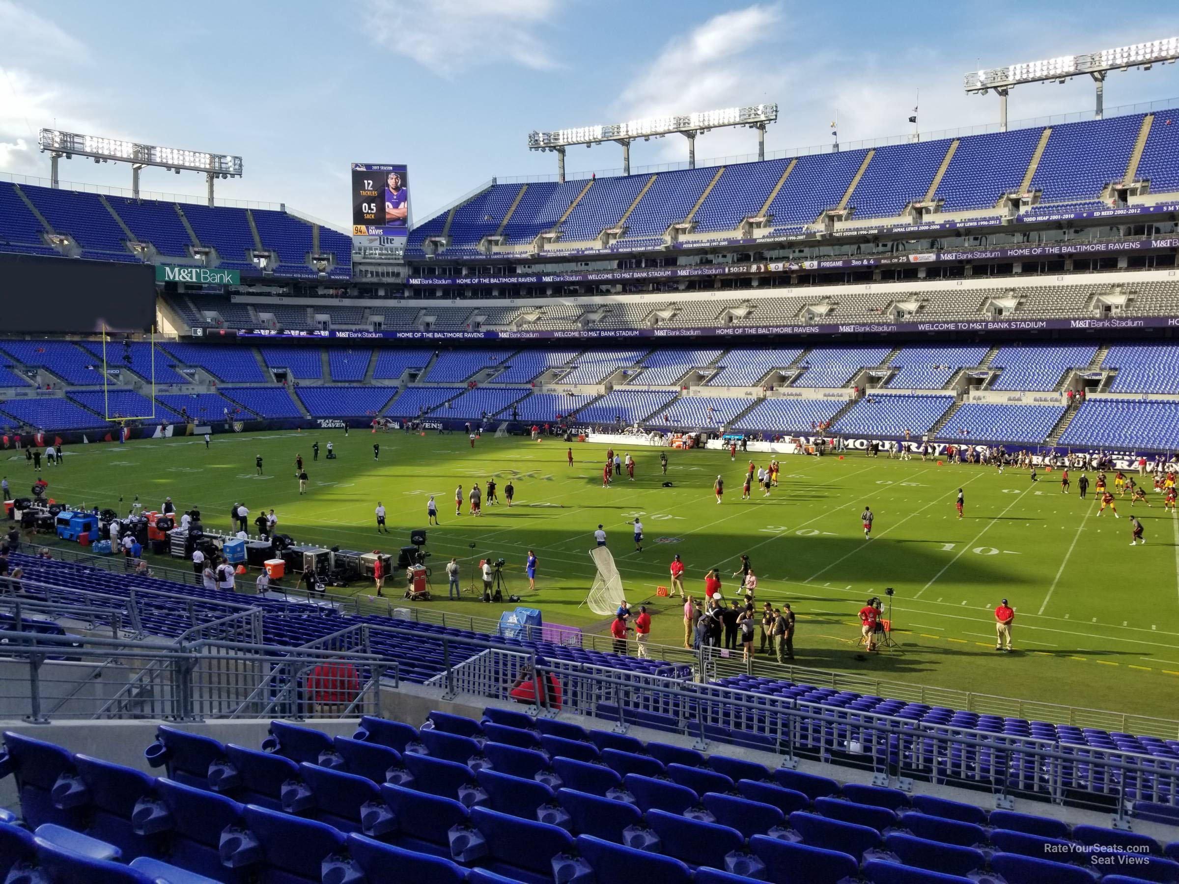 M Amp T Bank Stadium Section 123 Baltimore Ravens Rateyourseats Com