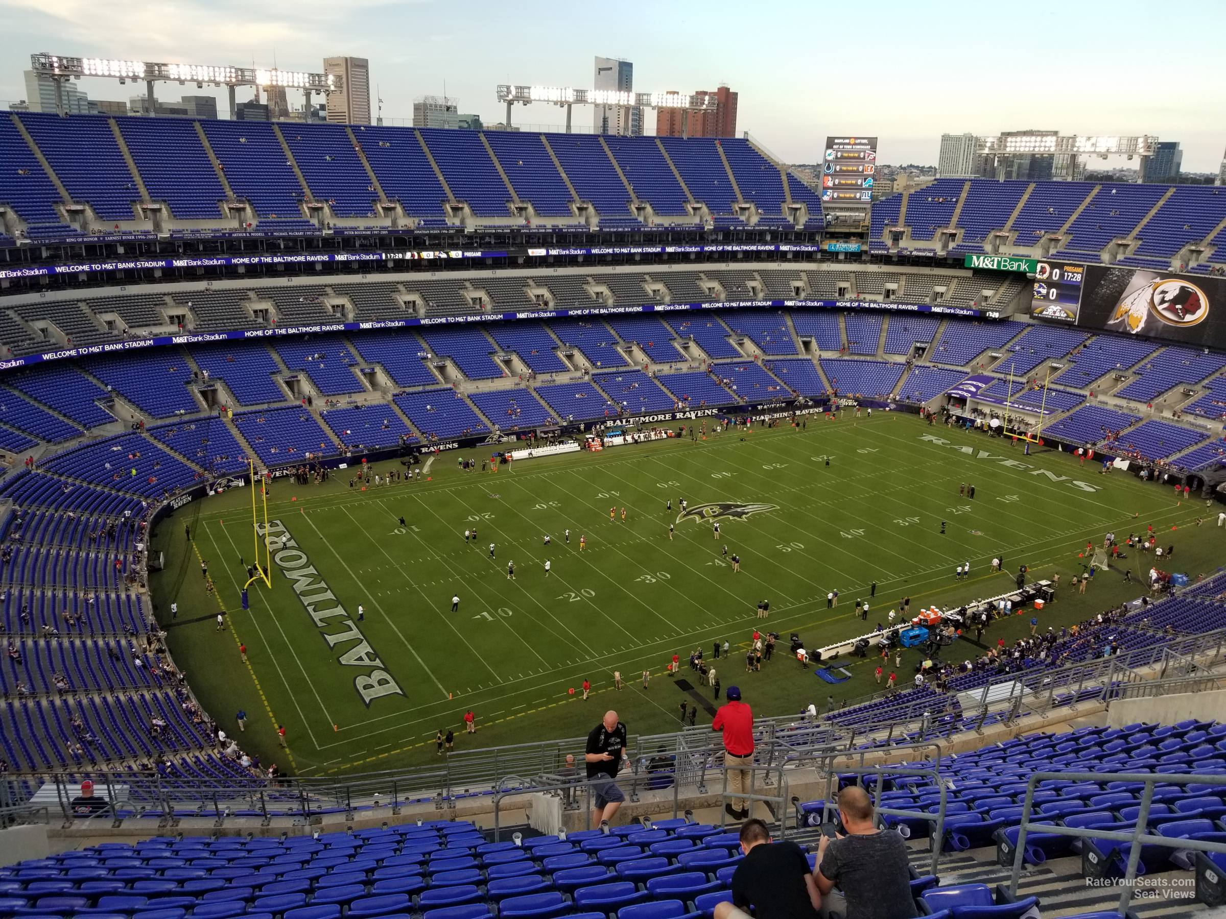 Seat View for M&T Bank Stadium Section 532, Row 20