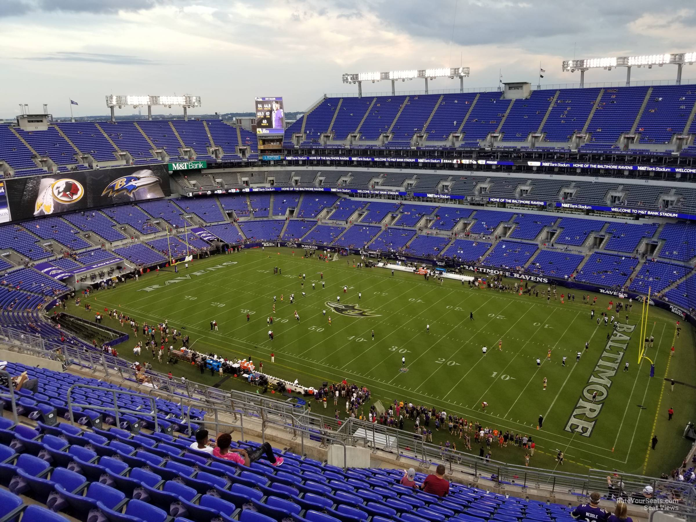 Seat View for M&T Bank Stadium Section 549, Row 20