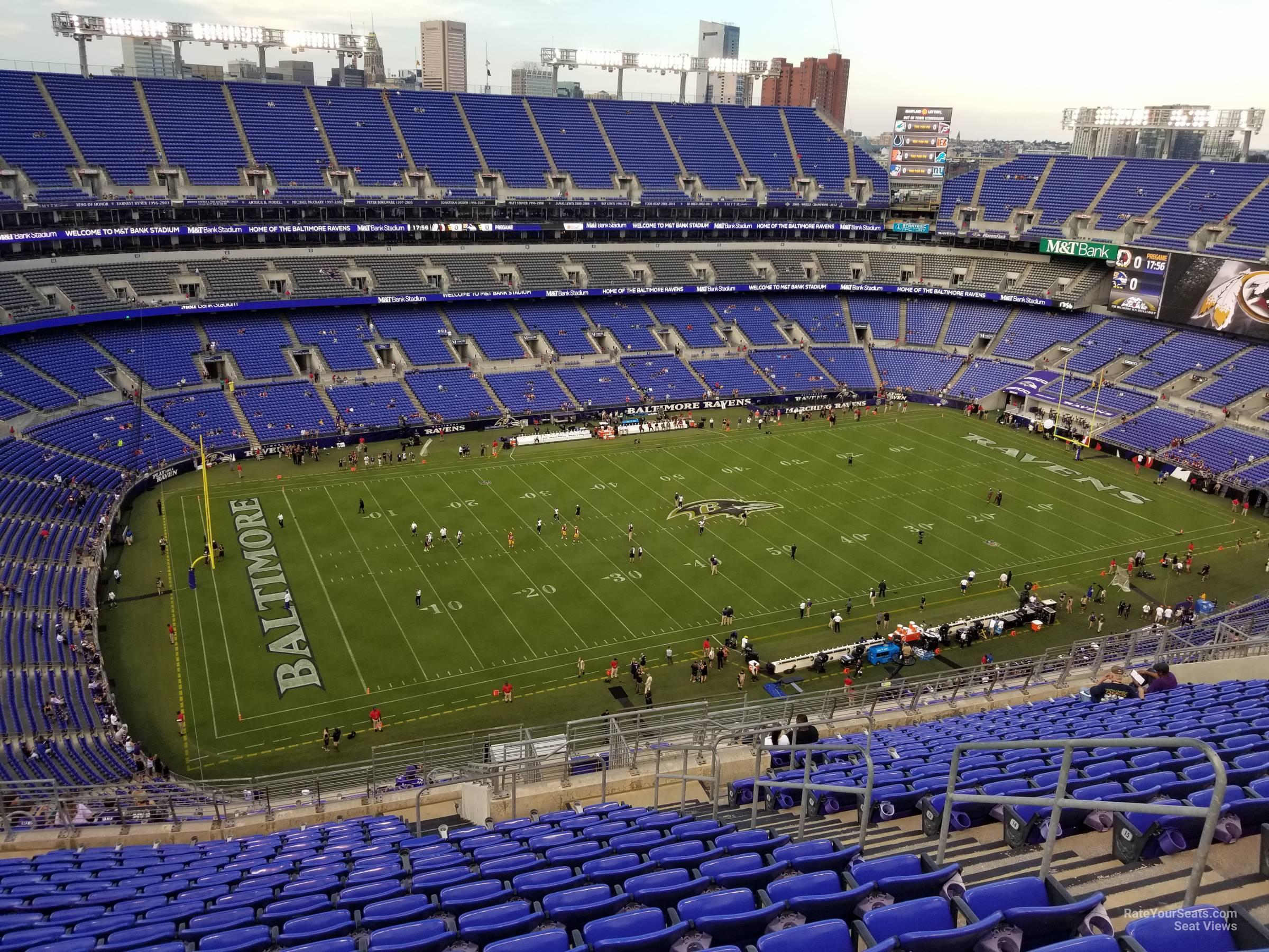 M T Bank Stadium Section 531 Baltimore Ravens Rateyourseats Com