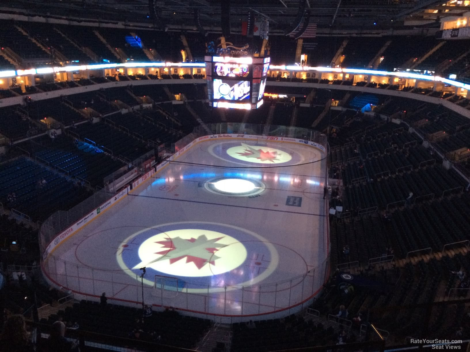 Bell Mts Place Section 312 Winnipeg Jets Rateyourseats Com
