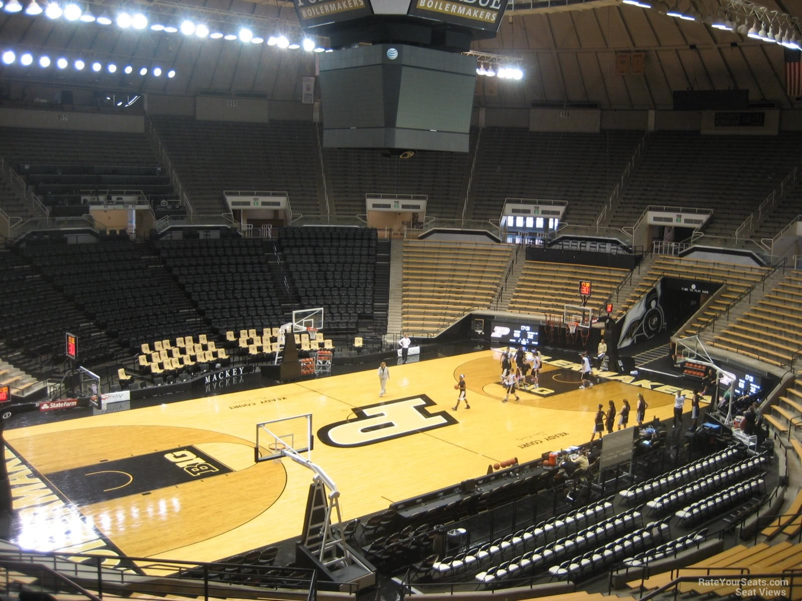 Seat View for Mackey Arena Section 104, Row 10