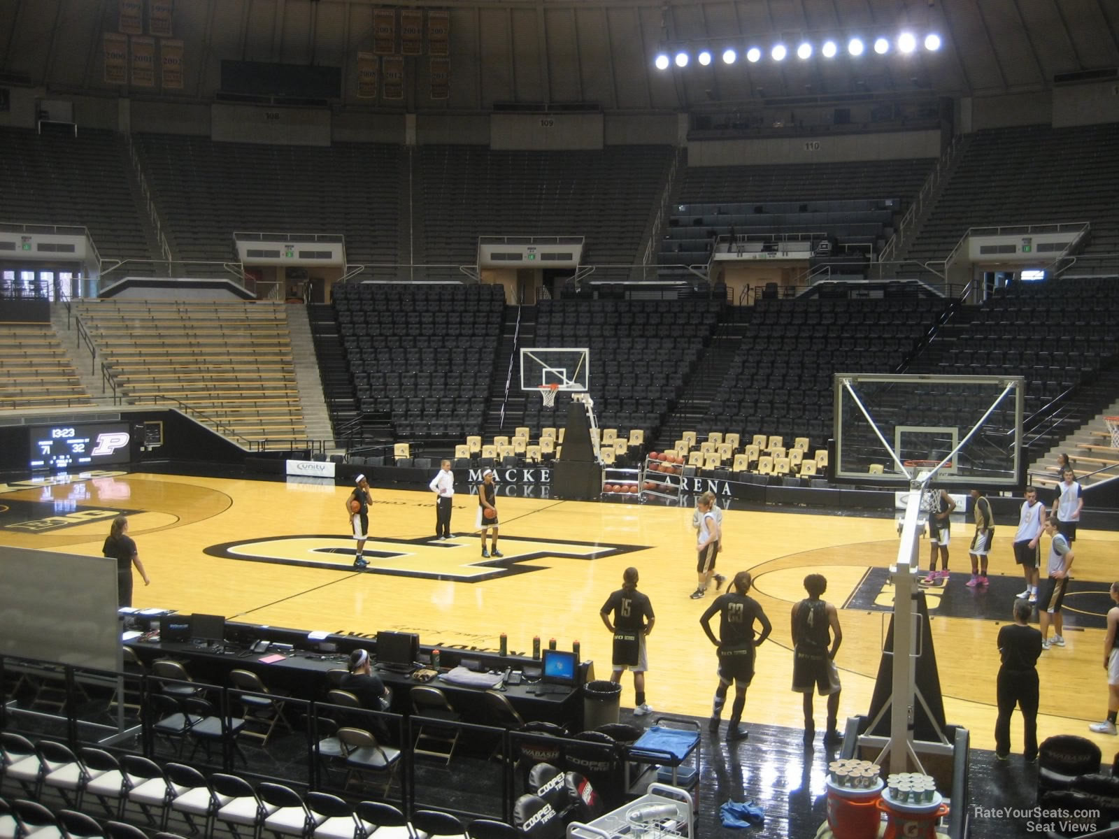 View from Section 17 Row 10 at Mackey Arena