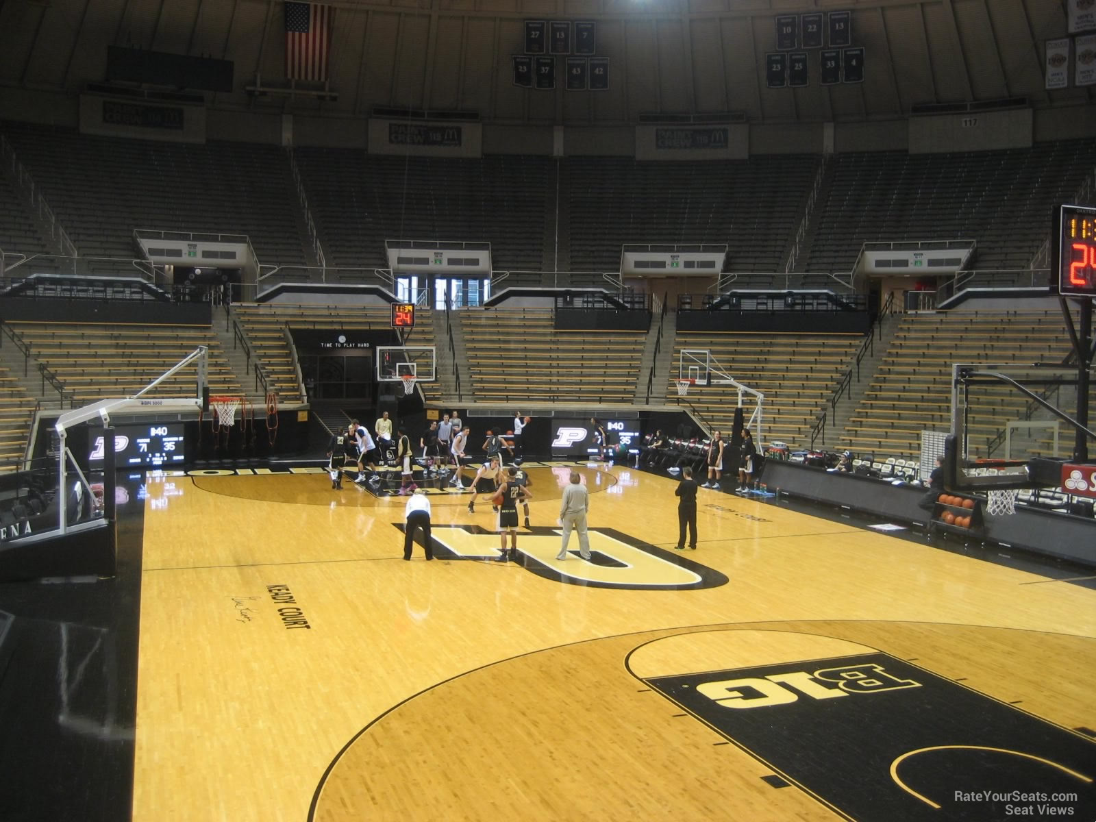 Seat View for Mackey Arena Section 6, Row 10