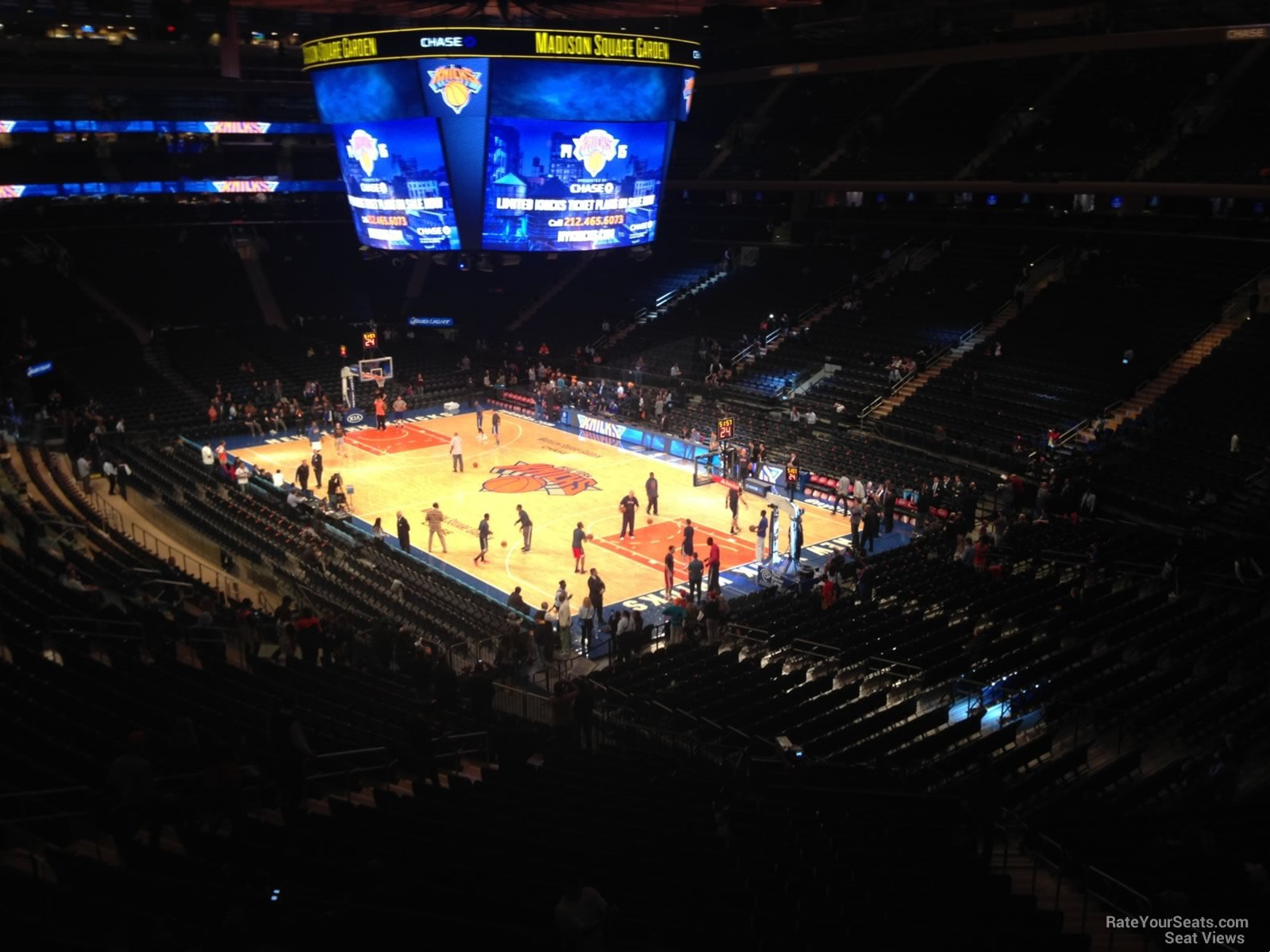 New York Knicks Seat View For Madison Square Garden Section 201, ...