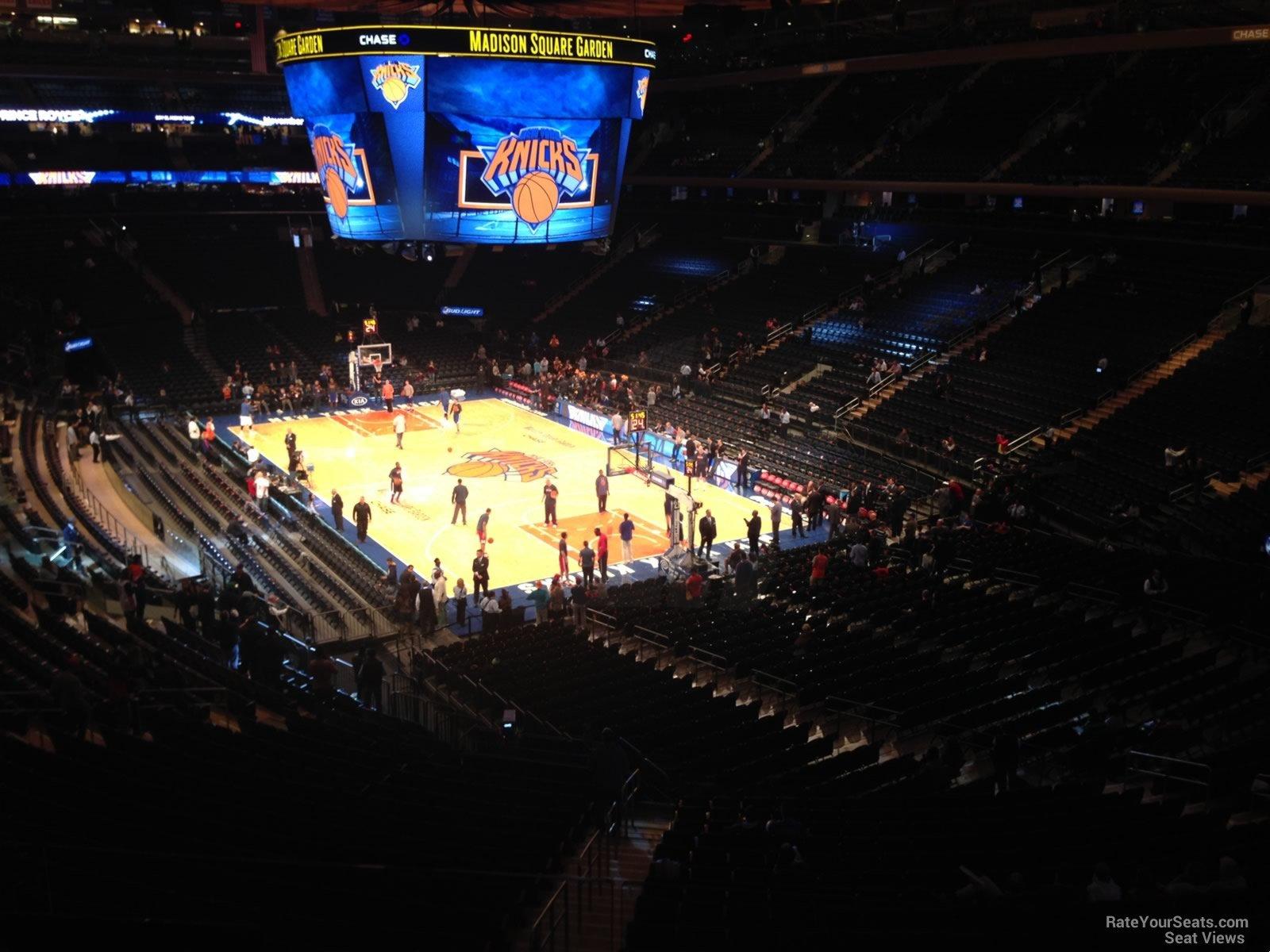 Madison Square Garden Section 202 New York Knicks
