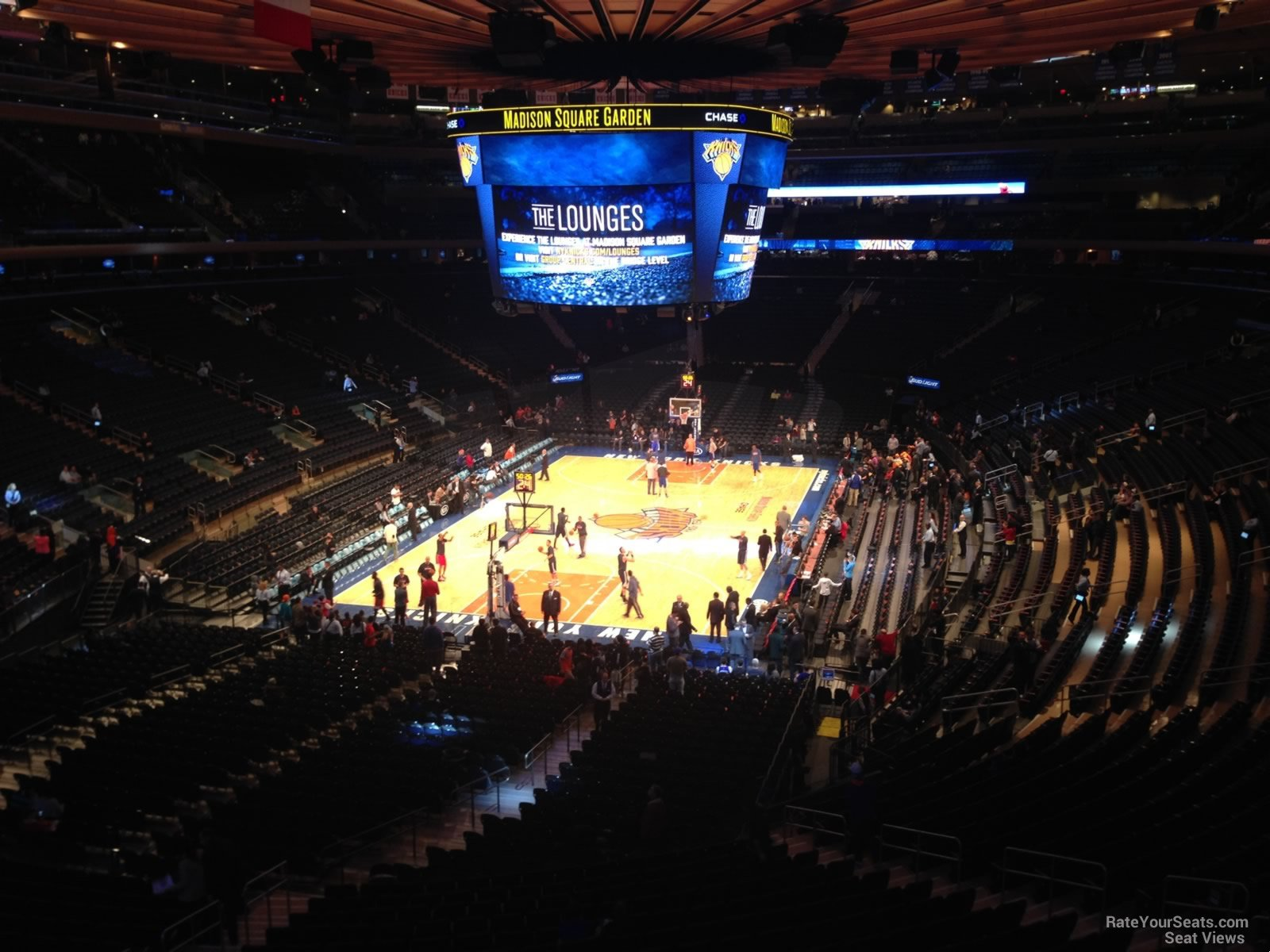 Madison Square Garden Section 205 New York Knicks