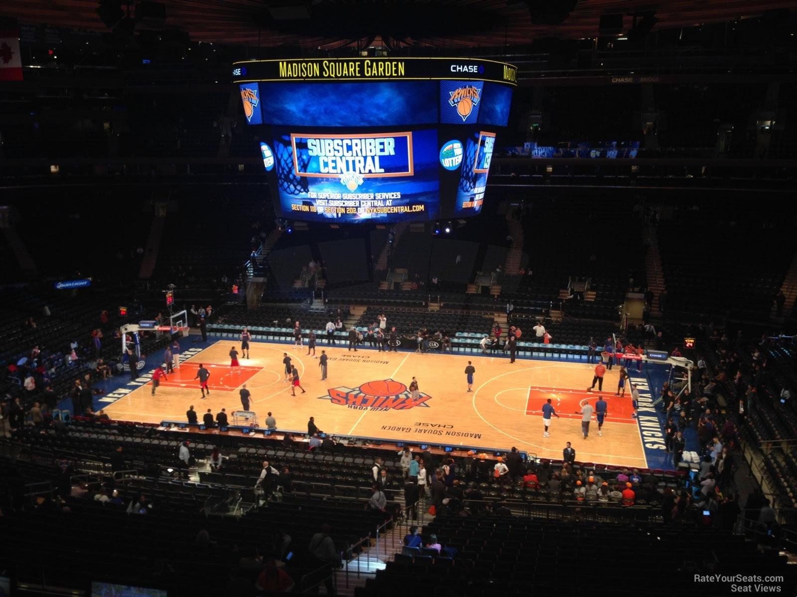 Madison Square Garden Section 212 New York Knicks