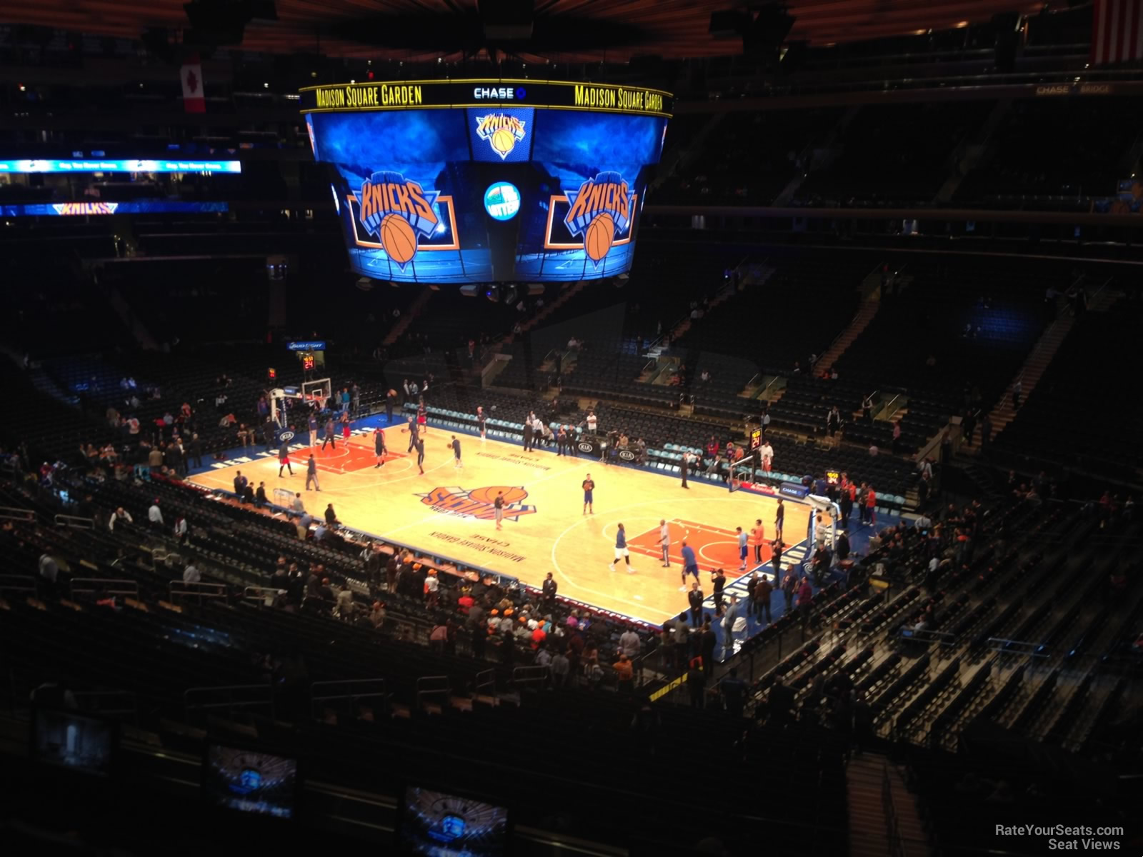 Madison square garden section 214 new york knicks Madison square garden basketball