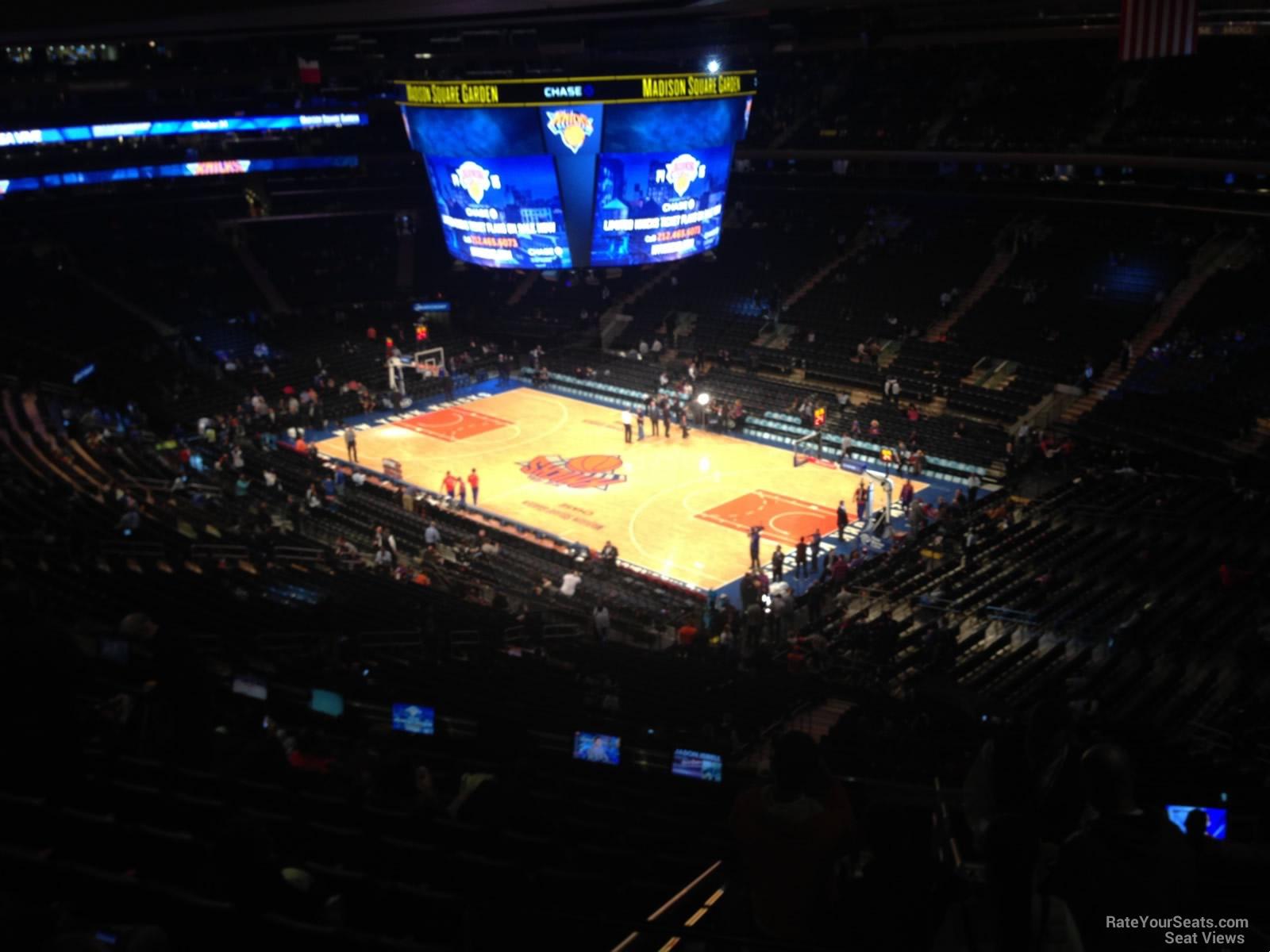 Madison Square Garden Section 215 New York Knicks