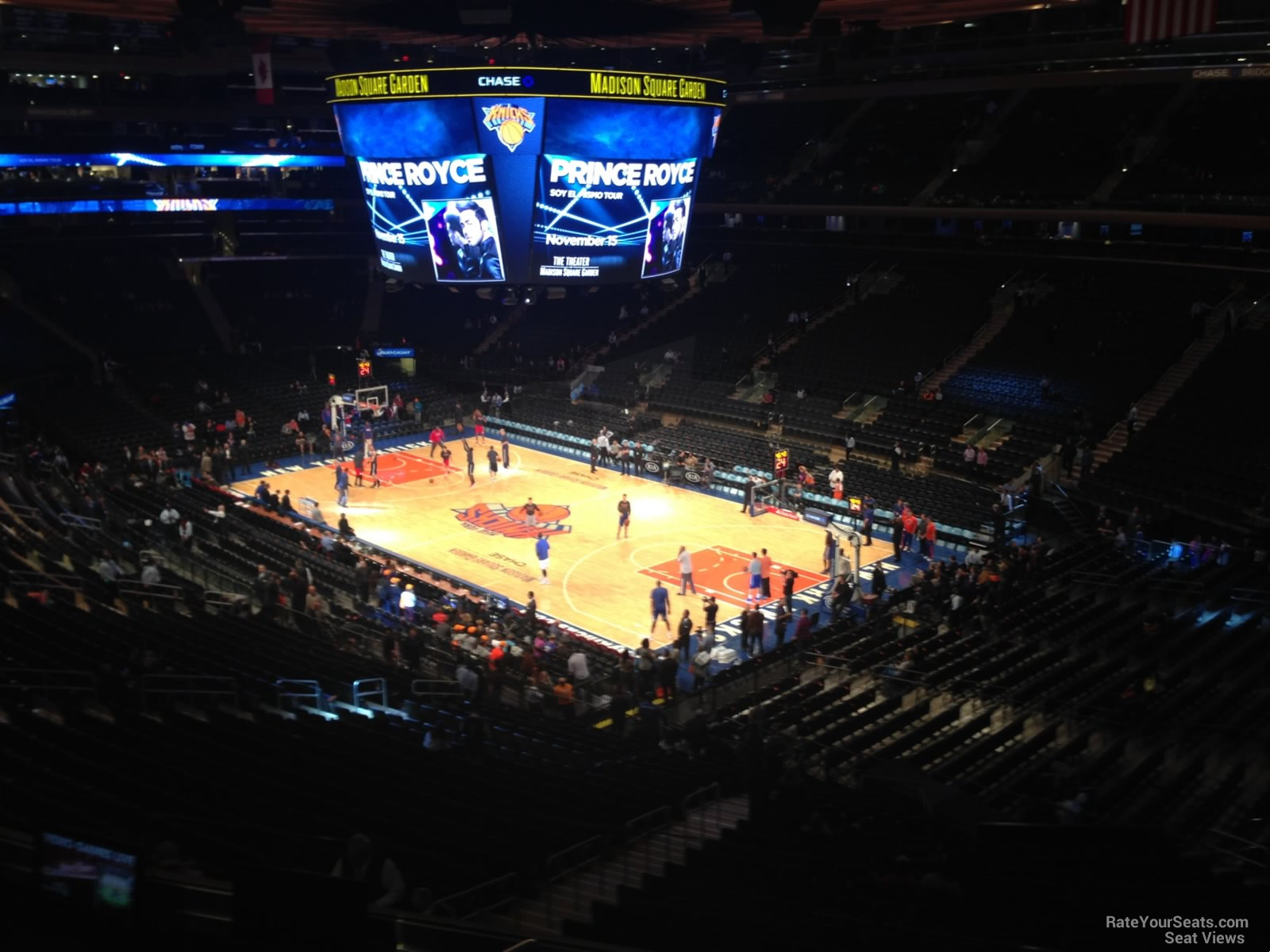 Madison Square Garden Section 215 New York Knicks