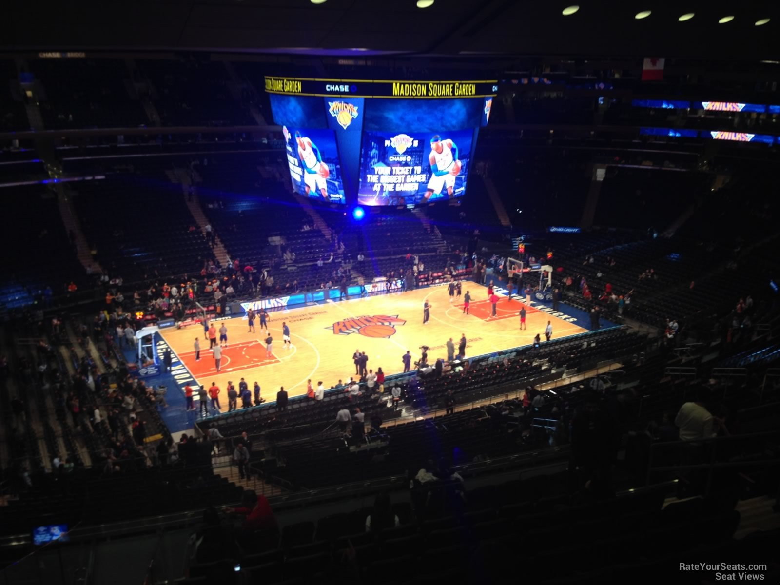 New York Knicks Seat View for Madison Square Garden Section 222