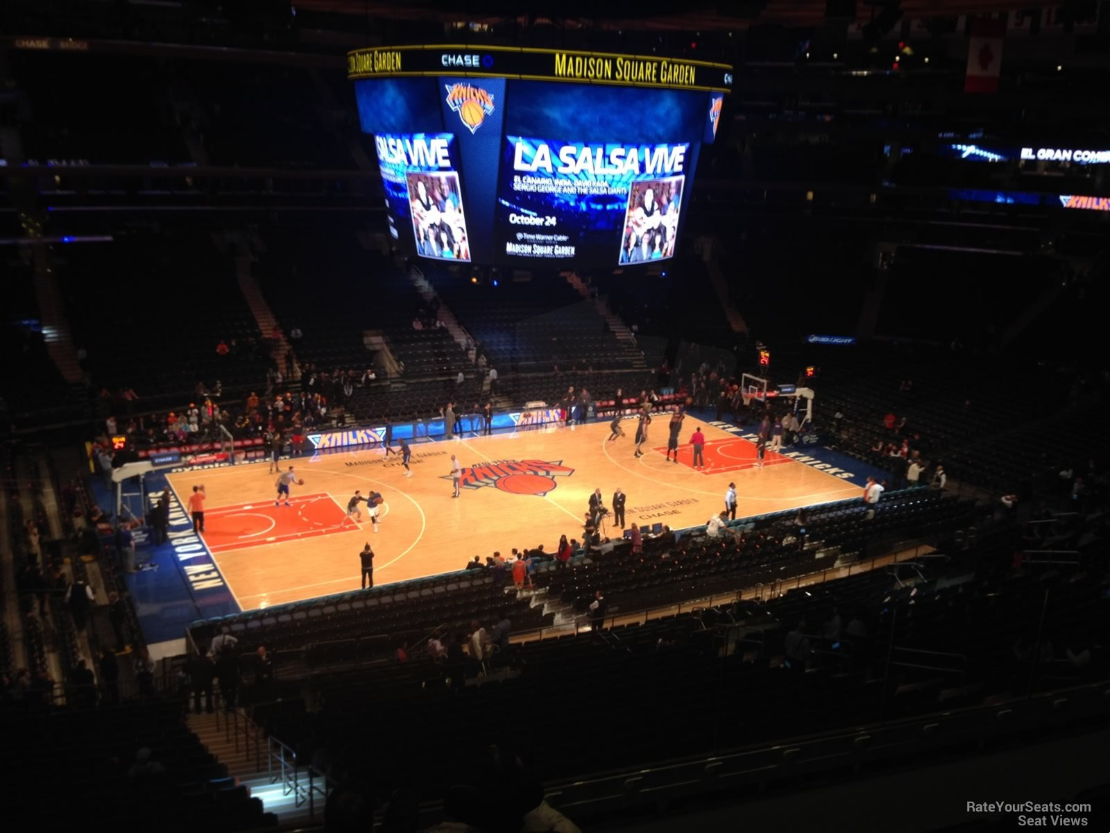 Madison Square Garden Section 222 New York Knicks