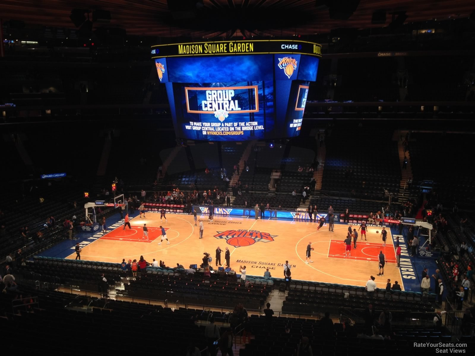 View from Section 225 Row 5 at Madison Square Garden