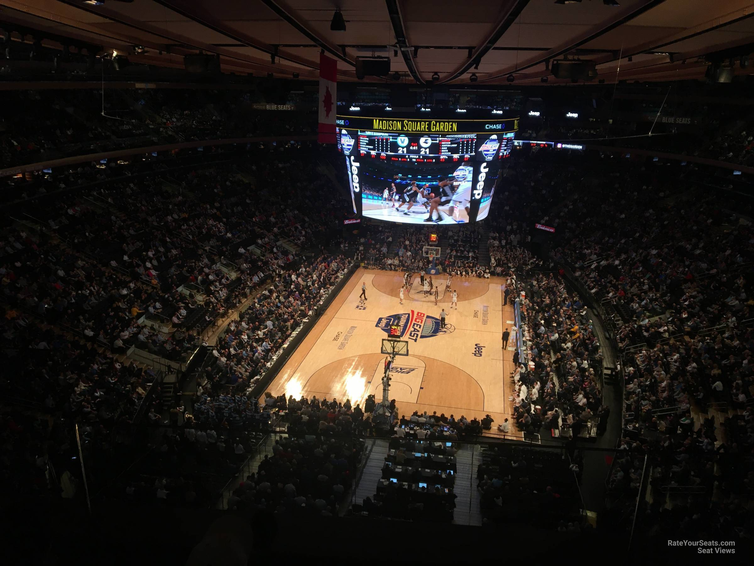 New York Knicks Seat View for Madison Square Garden Section 306, Row 2