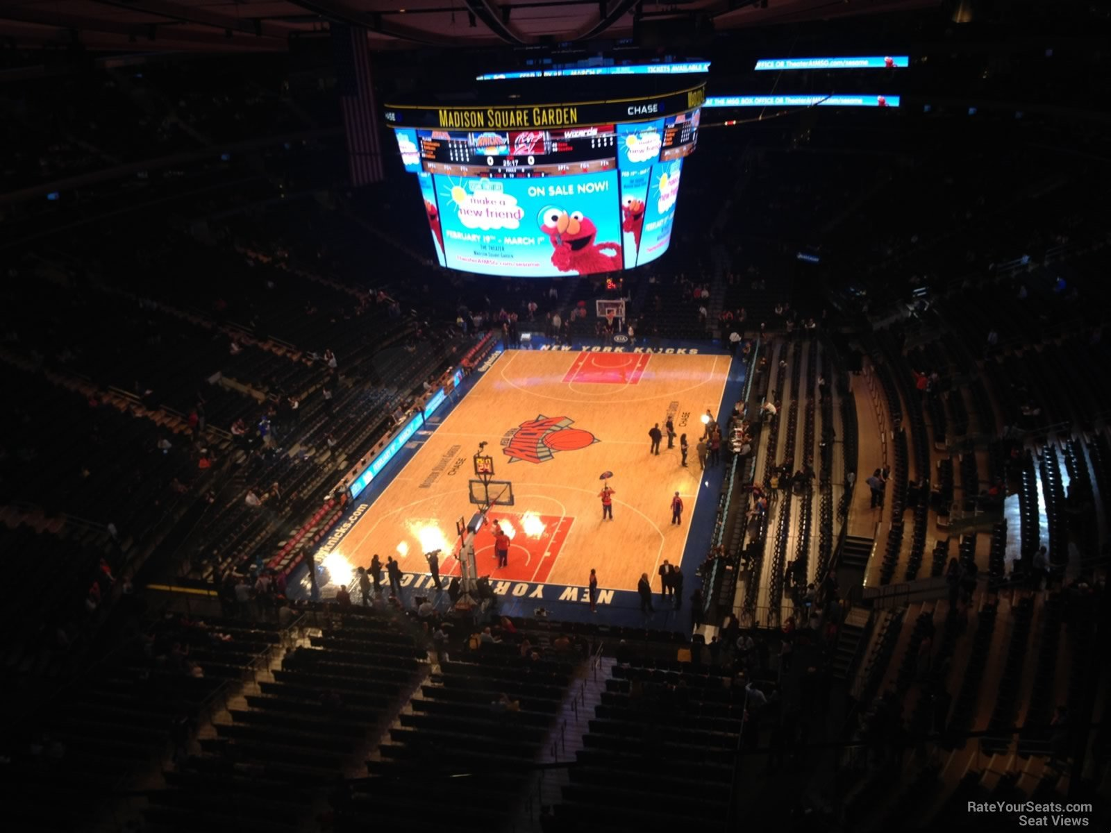 Madison square garden section 321 new york knicks Madison square garden basketball