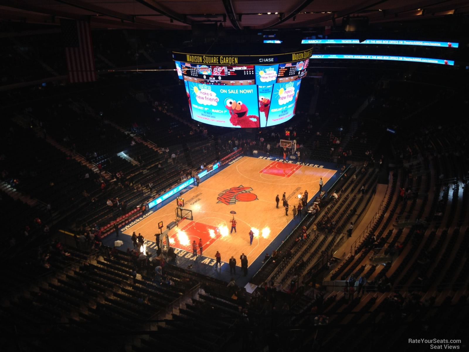 View From Section 322 Row 3 at Madison Square Garden