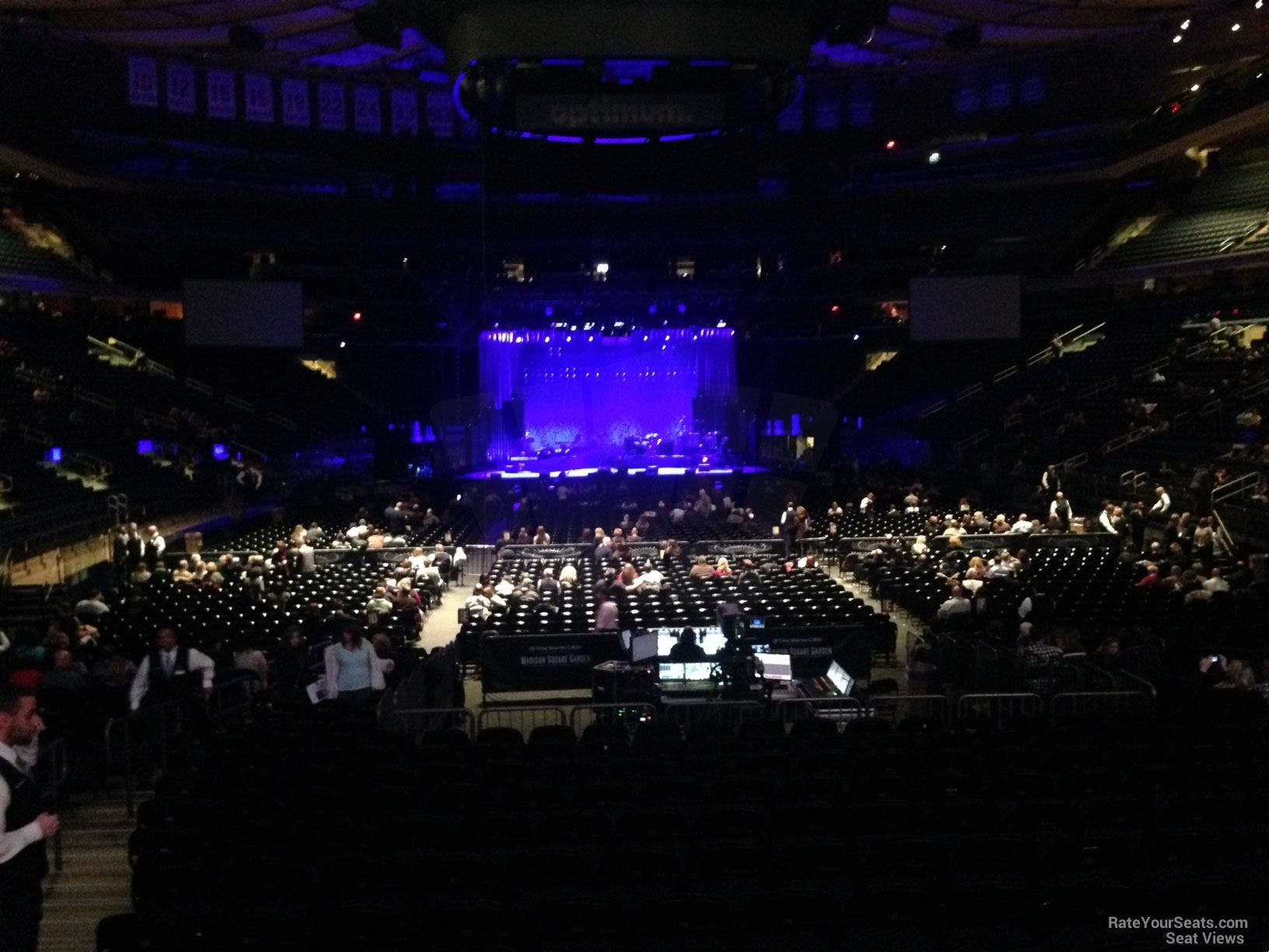 Concert Seat View For Madison Square Garden Section 102, ...