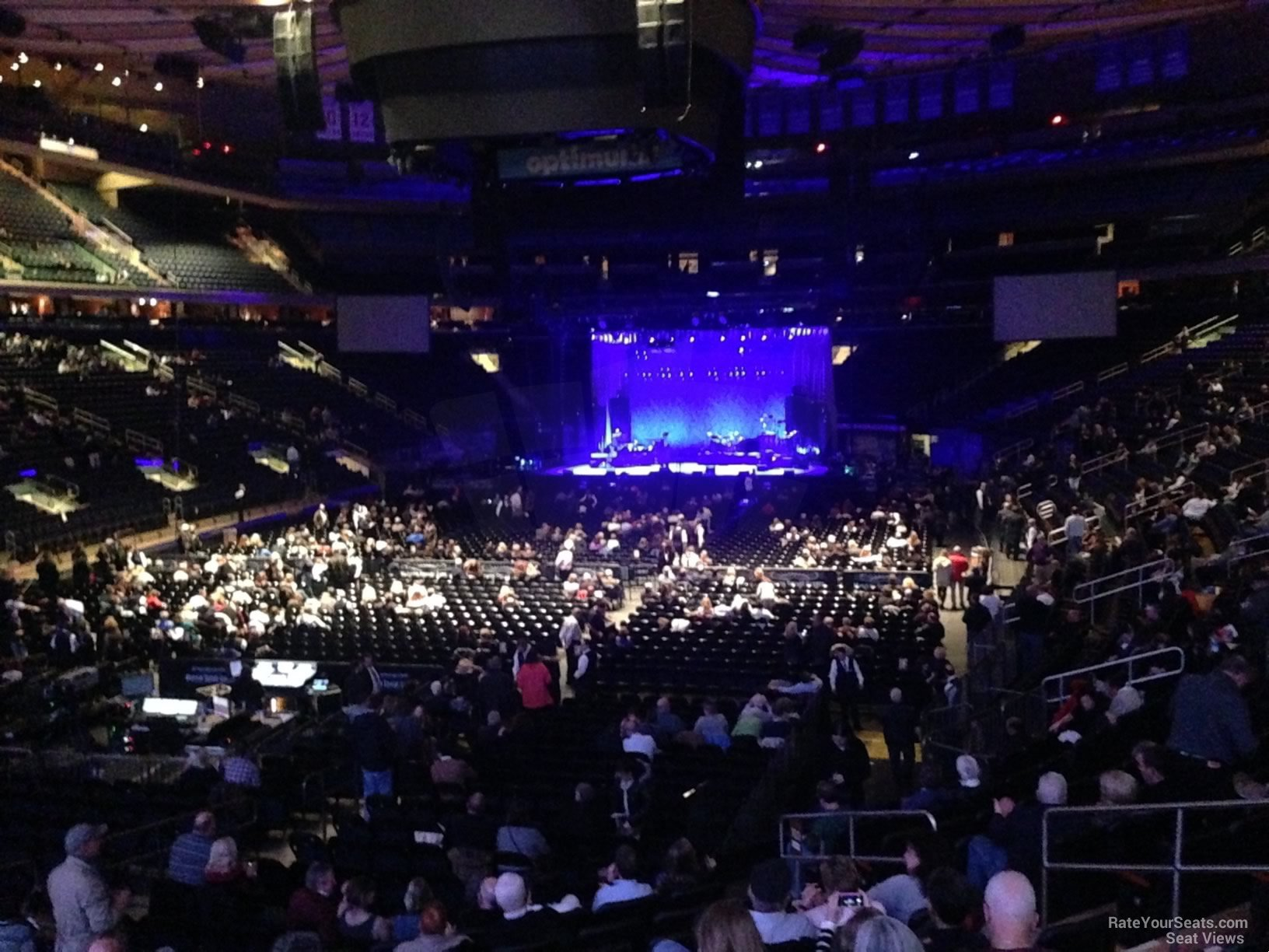 Concert Seat View For Madison Square Garden Section 103