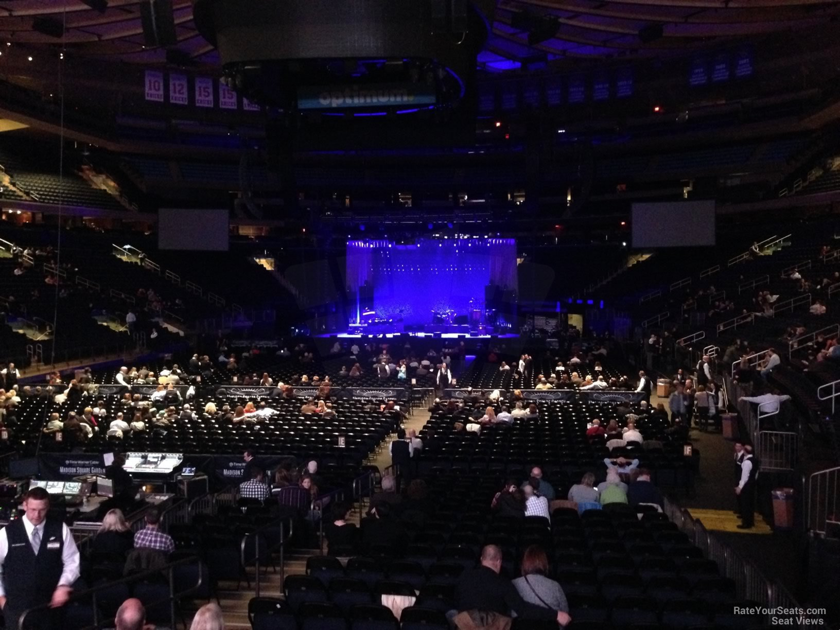 Concert Seat View For Madison Square Garden Section 107