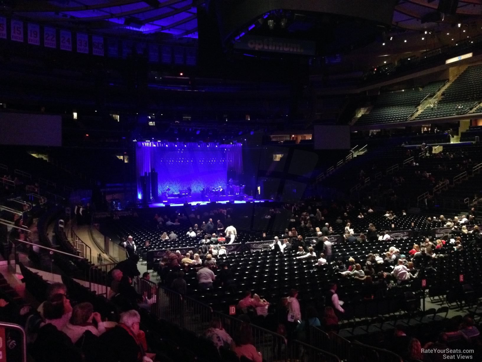 Concert Seat View For Madison Square Garden Section 120