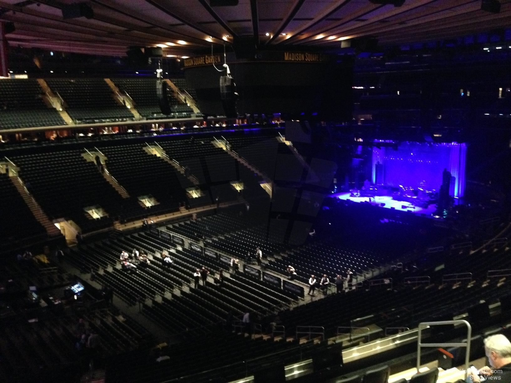 Concert Seat View For Madison Square Garden Section 208