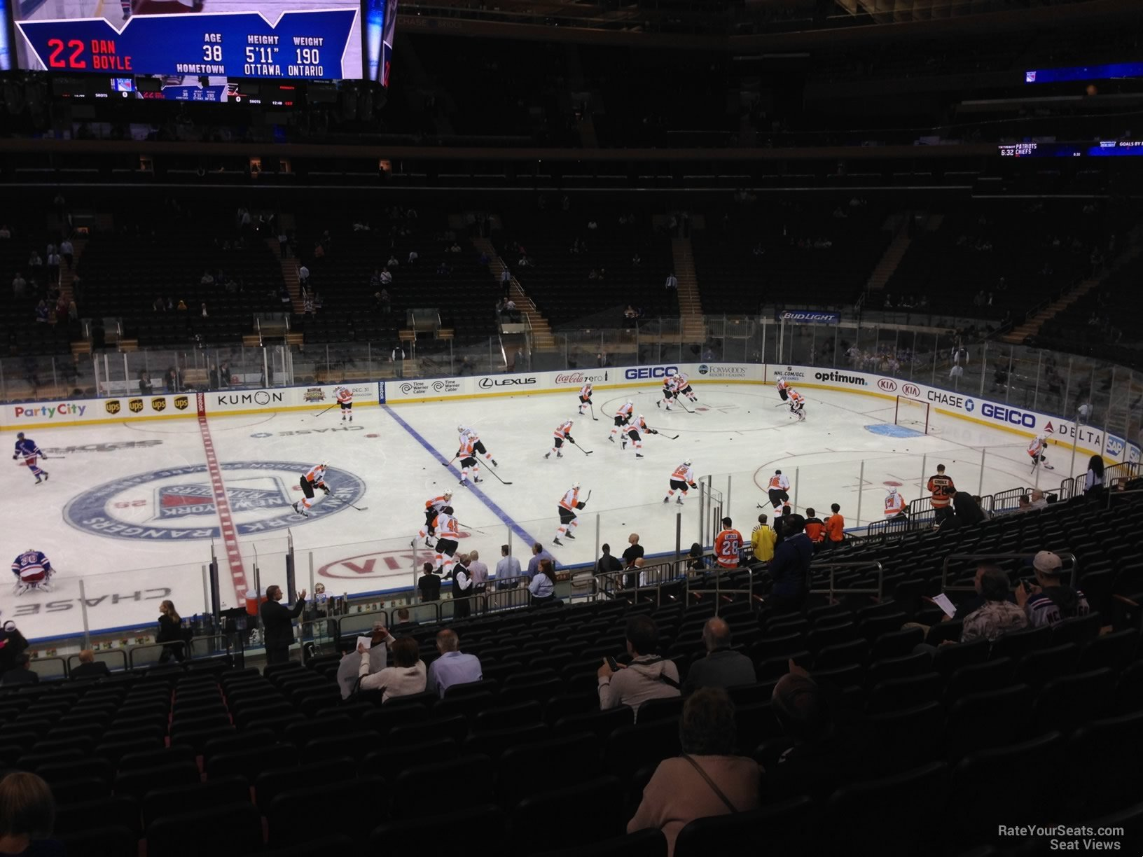 Madison Square Garden Section 107 New York Rangers