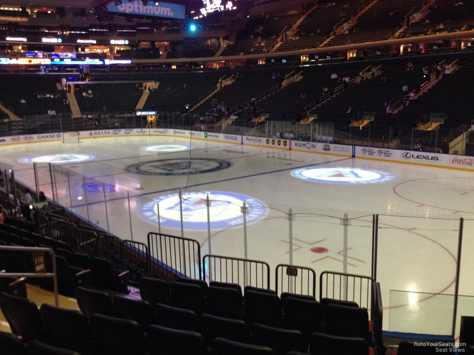 Madison Square Garden Section 110 New York Rangers