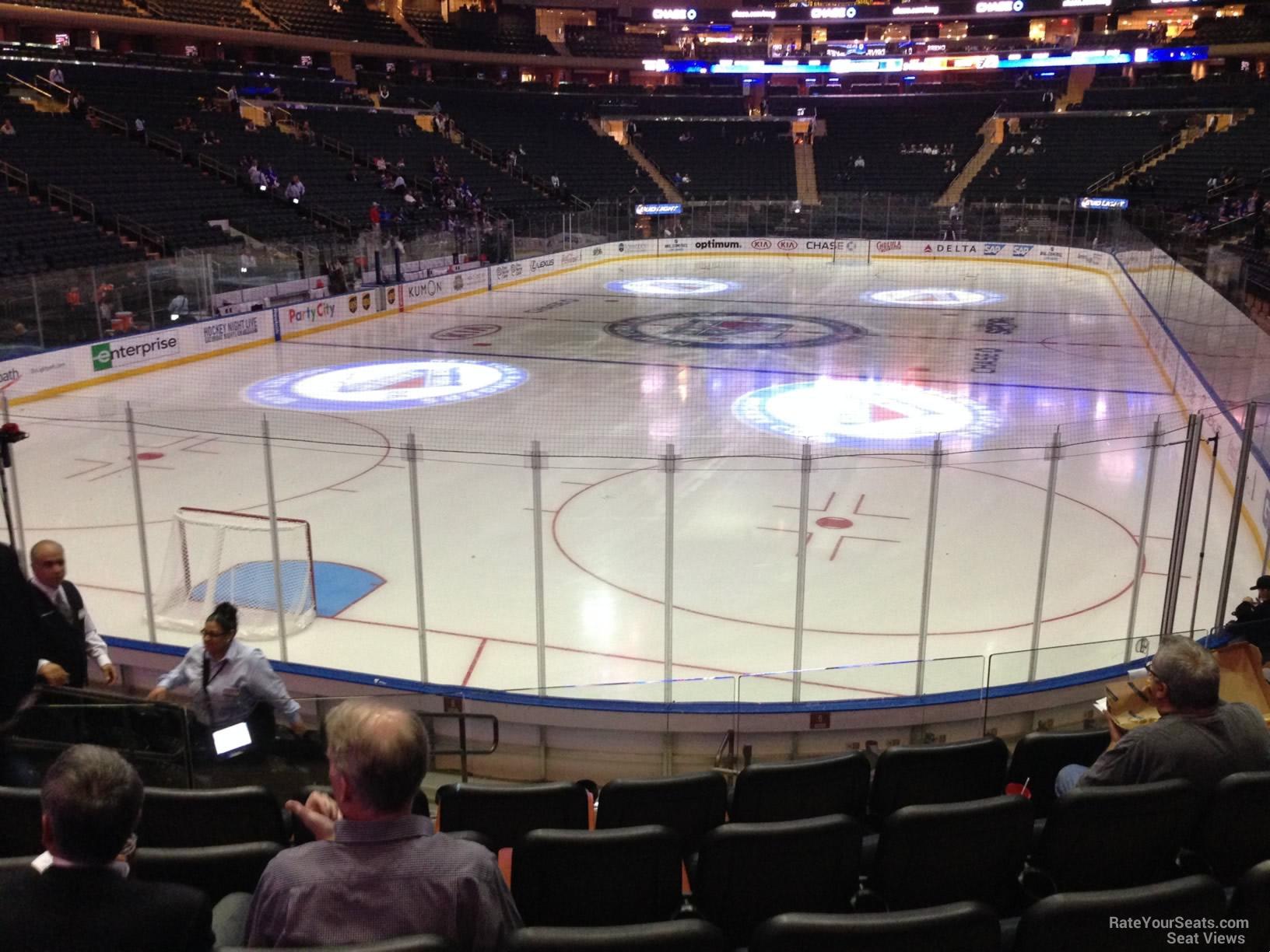 Madison Square Garden Section 113 New York Rangers
