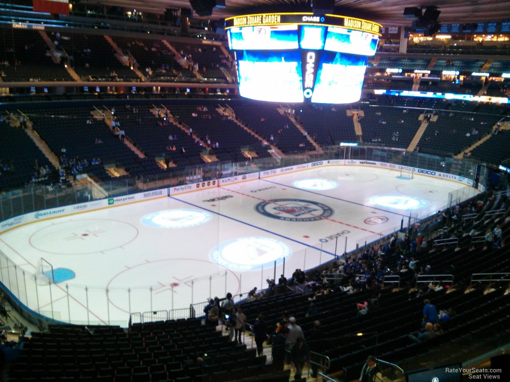 Madison Square Garden Section 208 New York Rangers