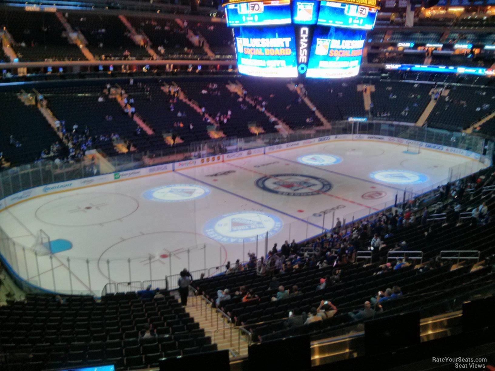 Madison Square Garden Hockey Section 221 on 9 29 2014b