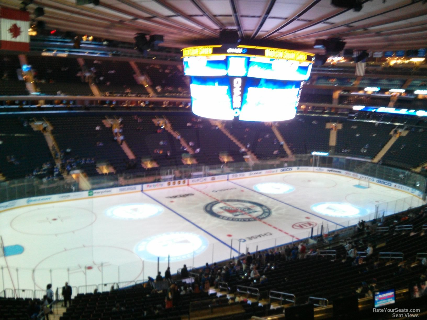 New York Rangers Seat View For Madison Square Garden Section 209, ...