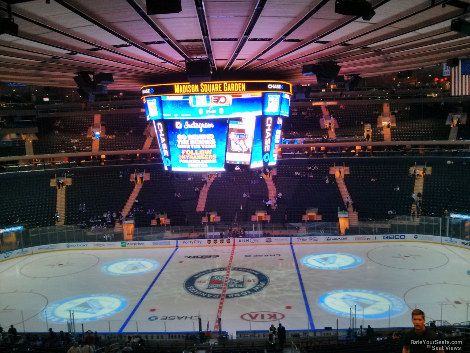 New York Rangers Seat View For Madison Square Garden Section 211, ...