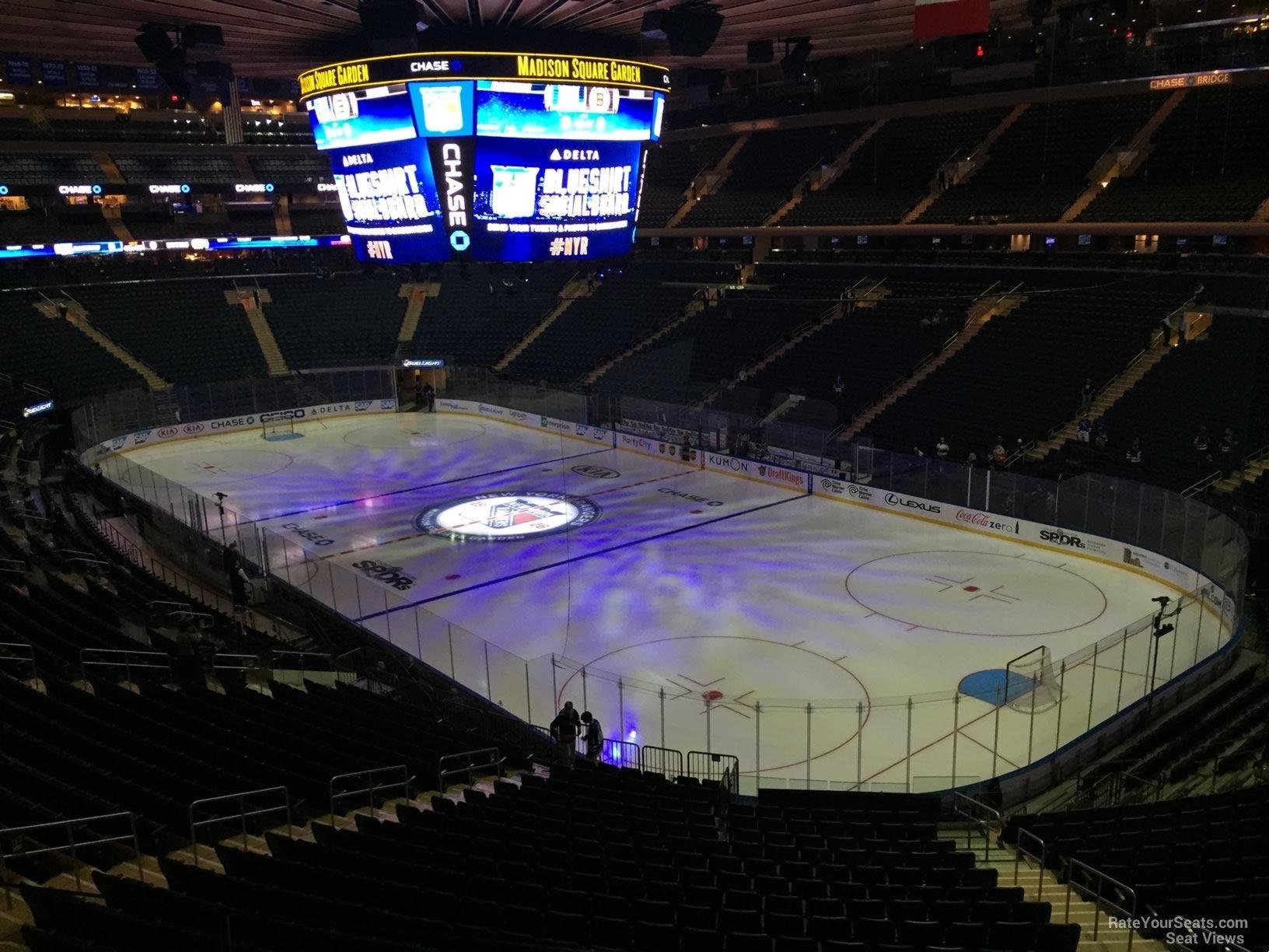 Madison Square Garden Section 201 New York Rangers
