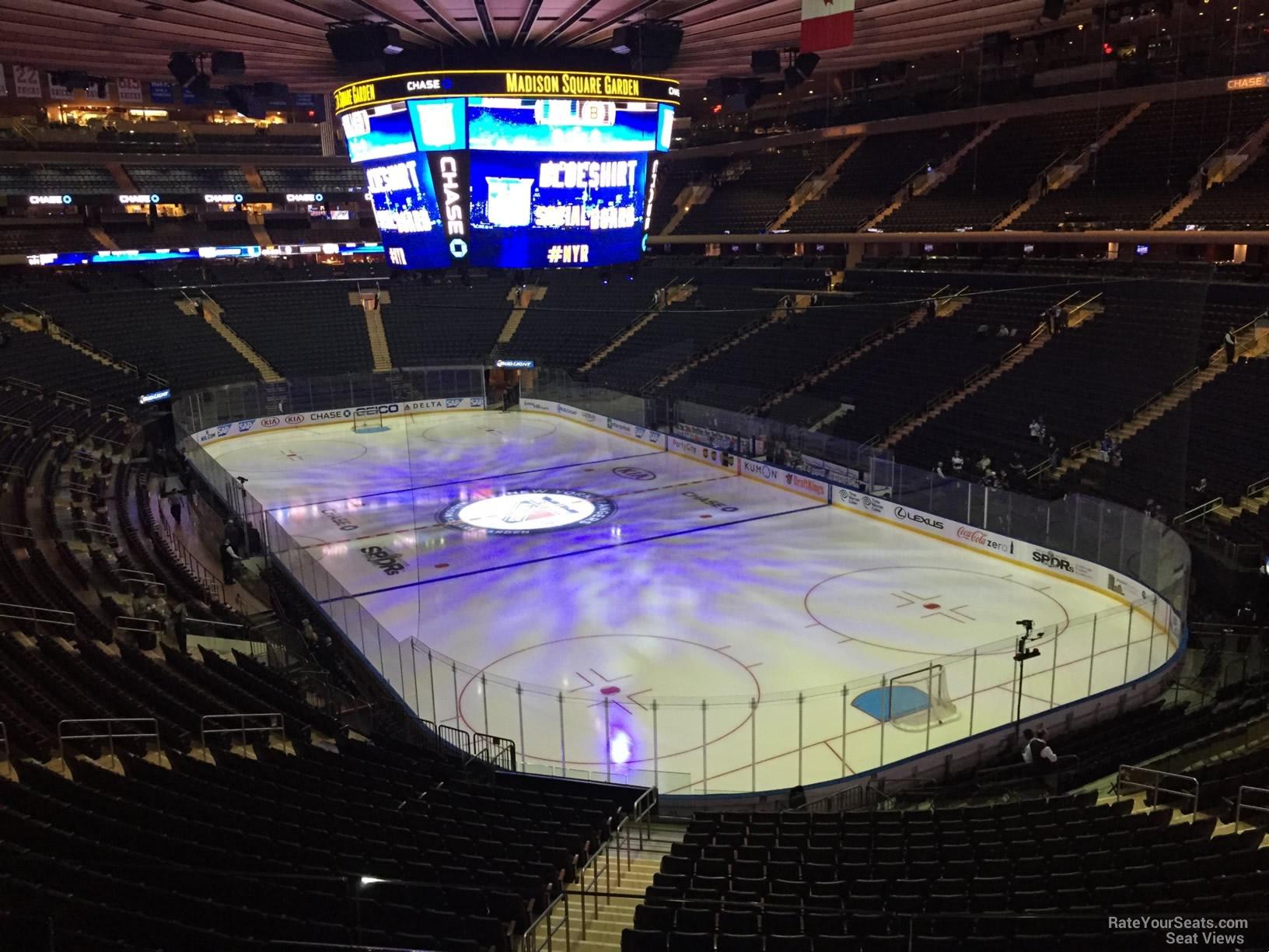 Madison Square Garden Section 202 New York Rangers