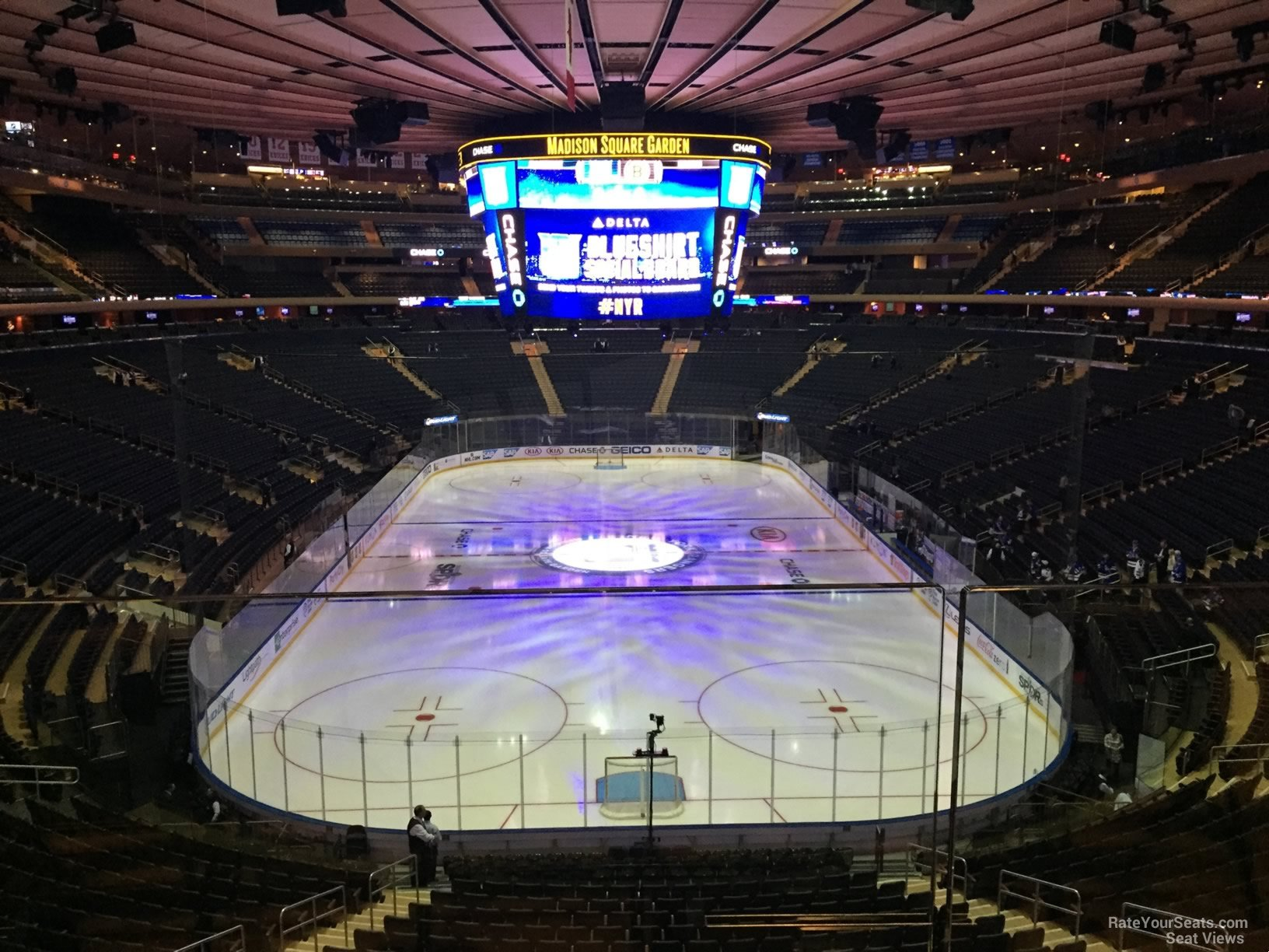 Madison Square Garden Section 204 New York Rangers