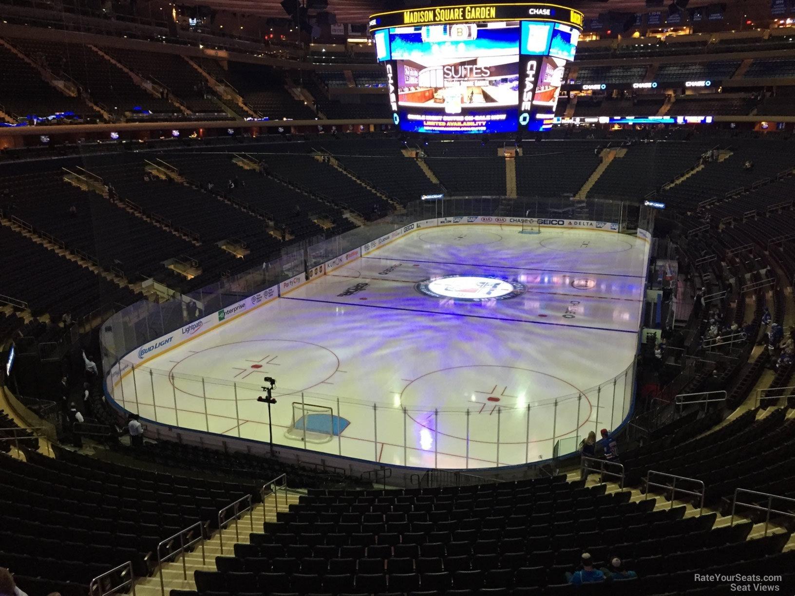 Madison Square Garden Section 205 New York Rangers
