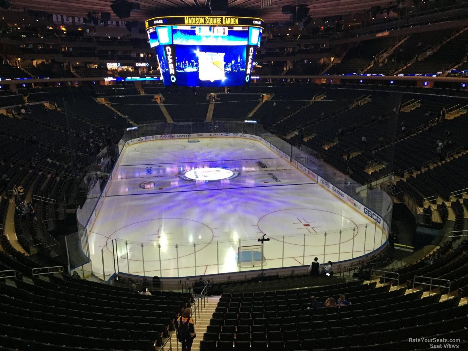 Madison Square Garden Section 217 New York Rangers